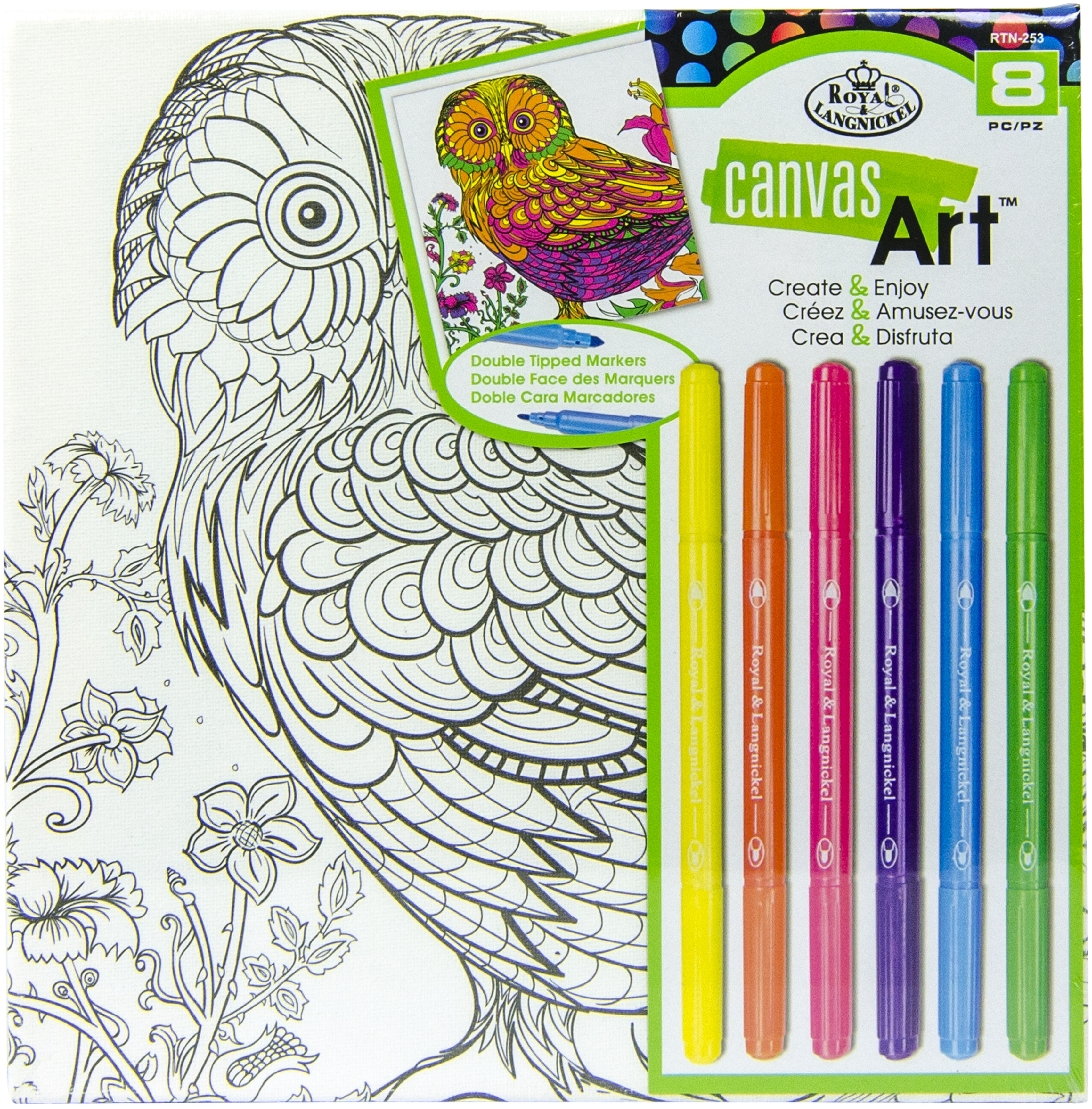 Canvas Art Markers Kit 10X10-Owl