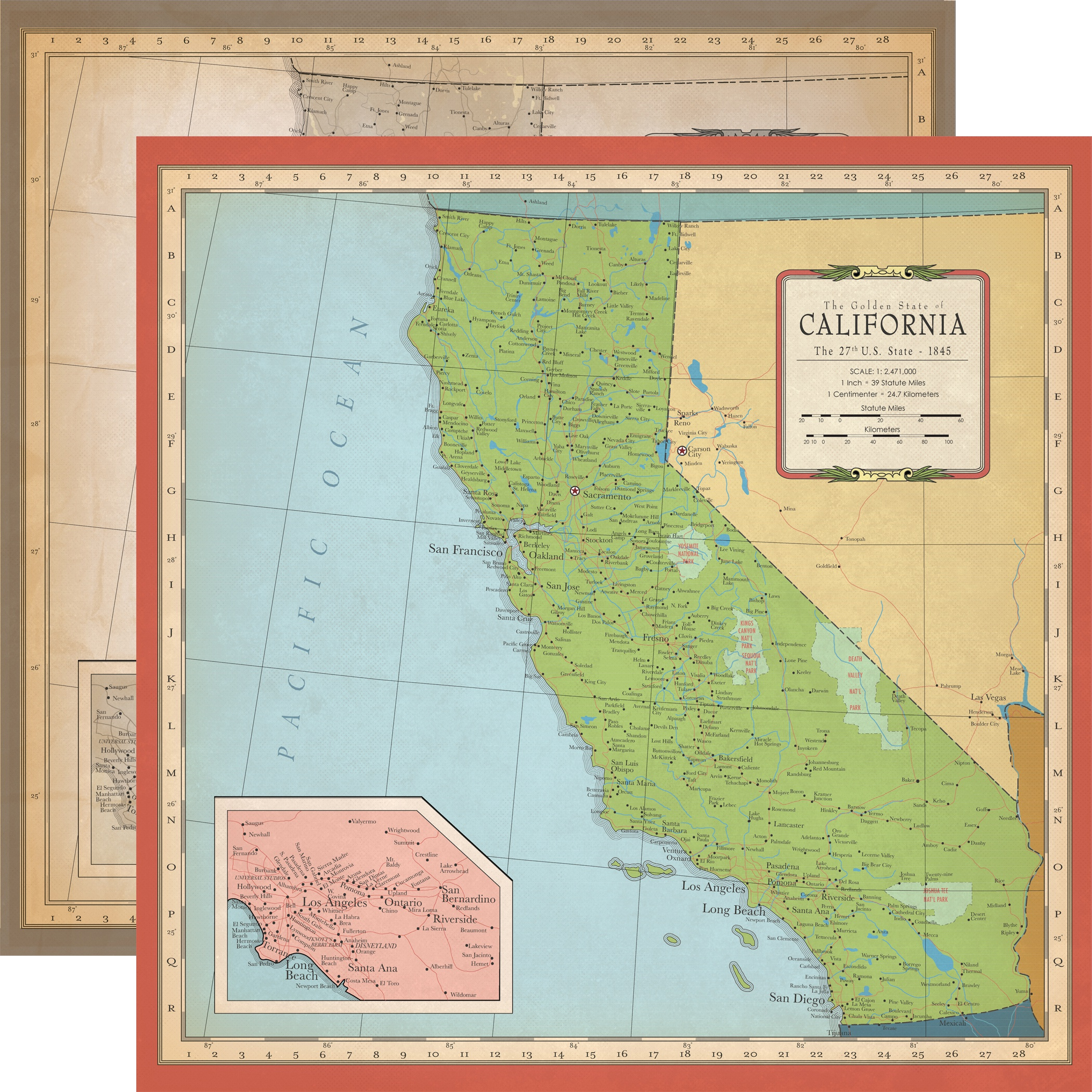 Cartography No.1 - California Map