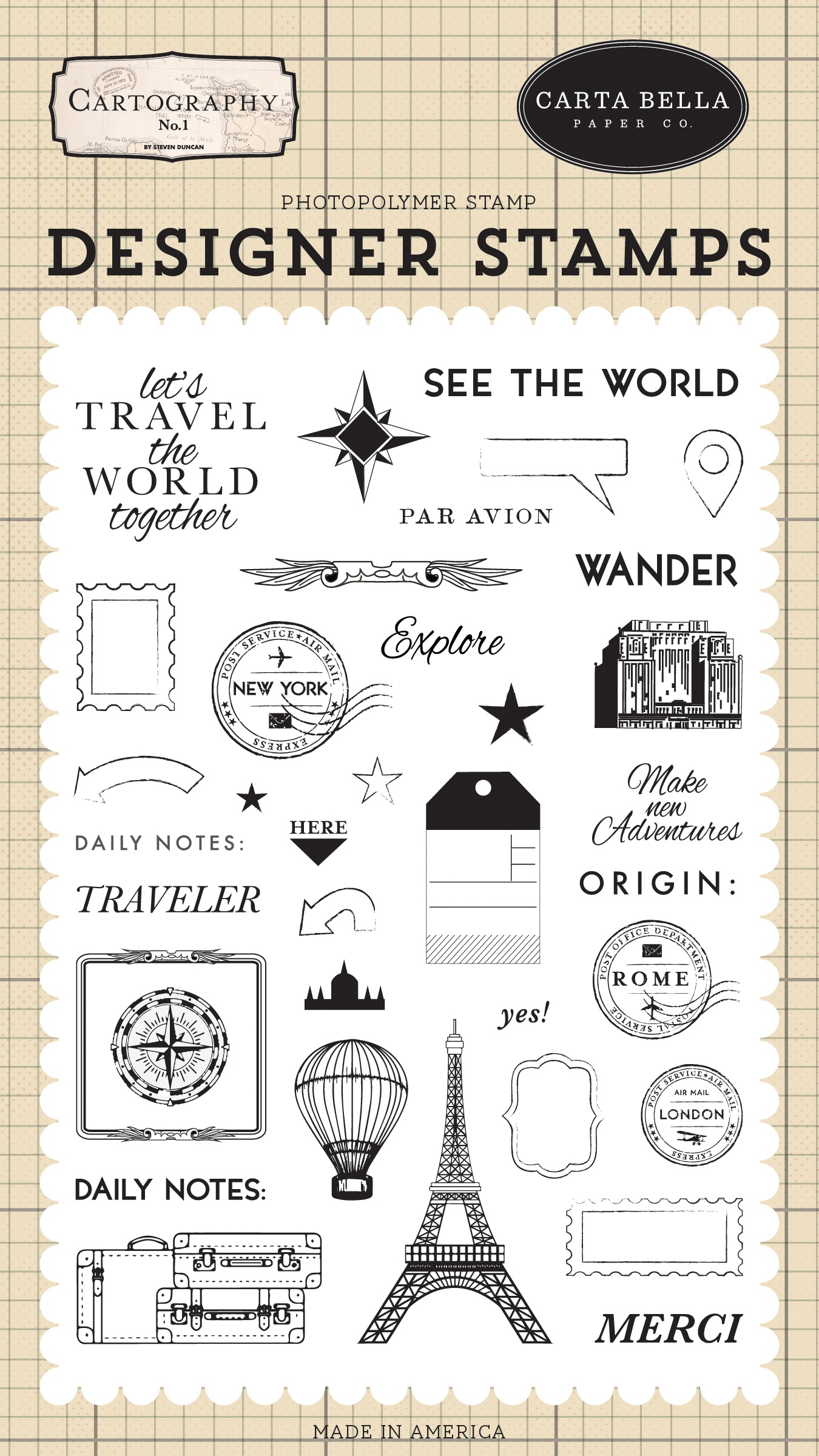 Carta Bella Stamps-See The World