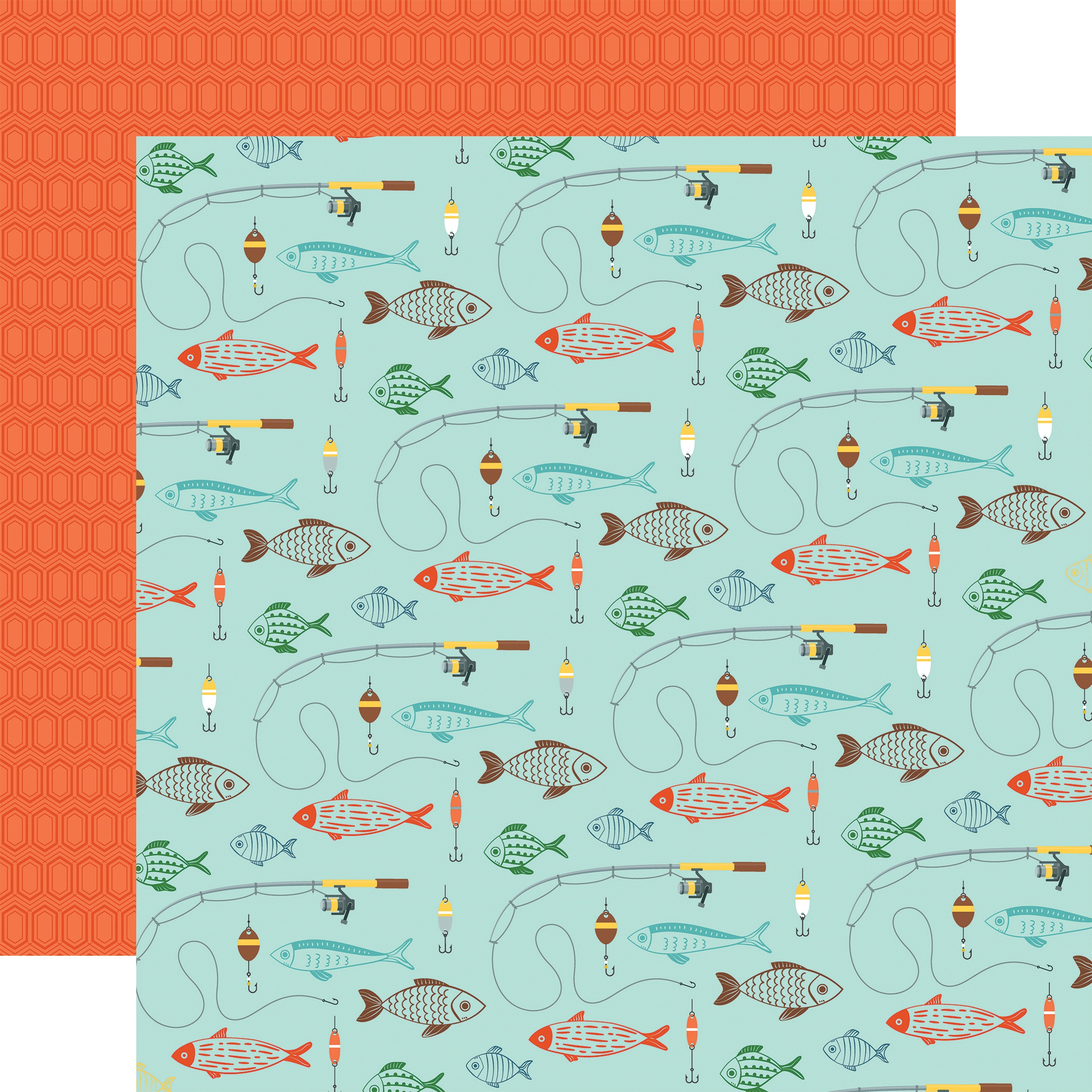 Summer Adventure Double-Sided Cardstock 12X12-Go See Fish