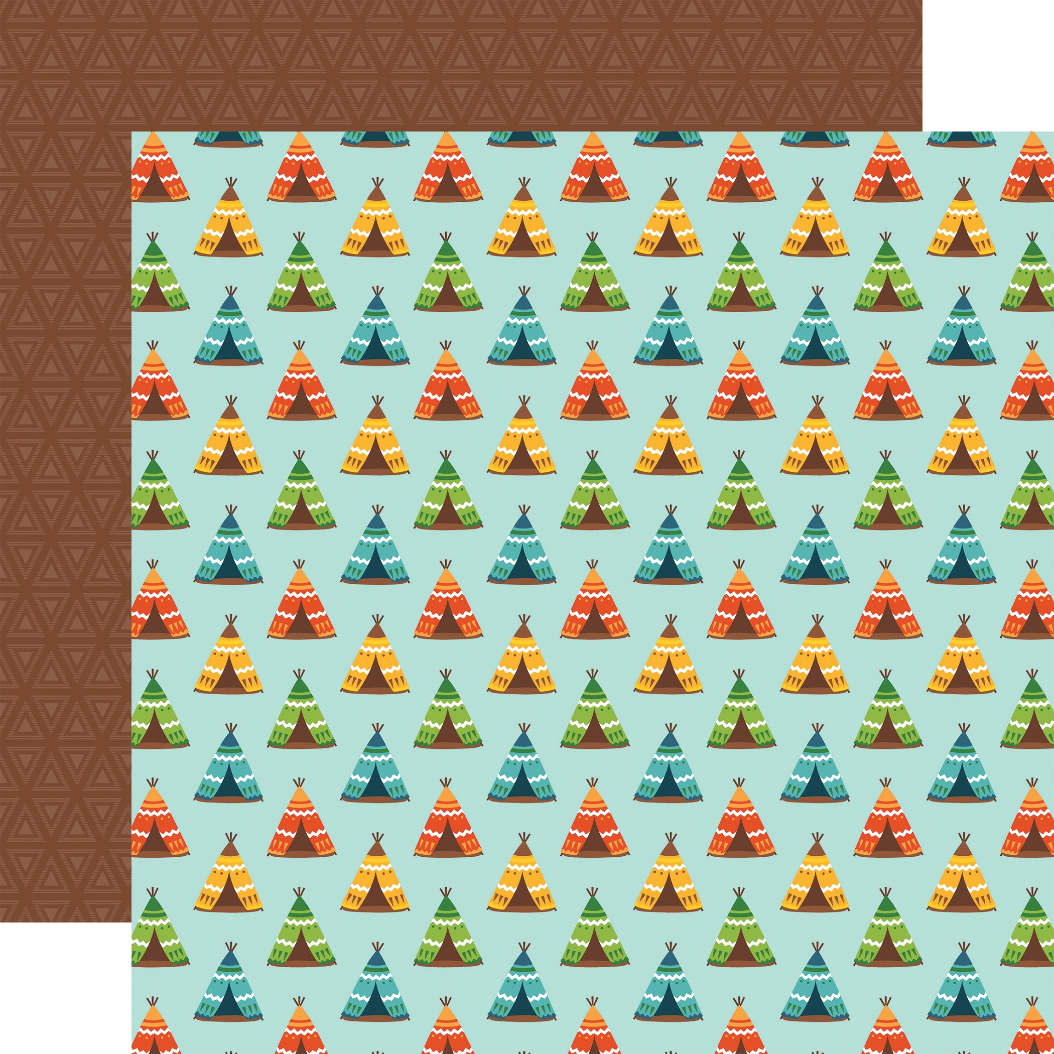 Summer Adventure Double-Sided Cardstock 12X12-Pitch A Tent