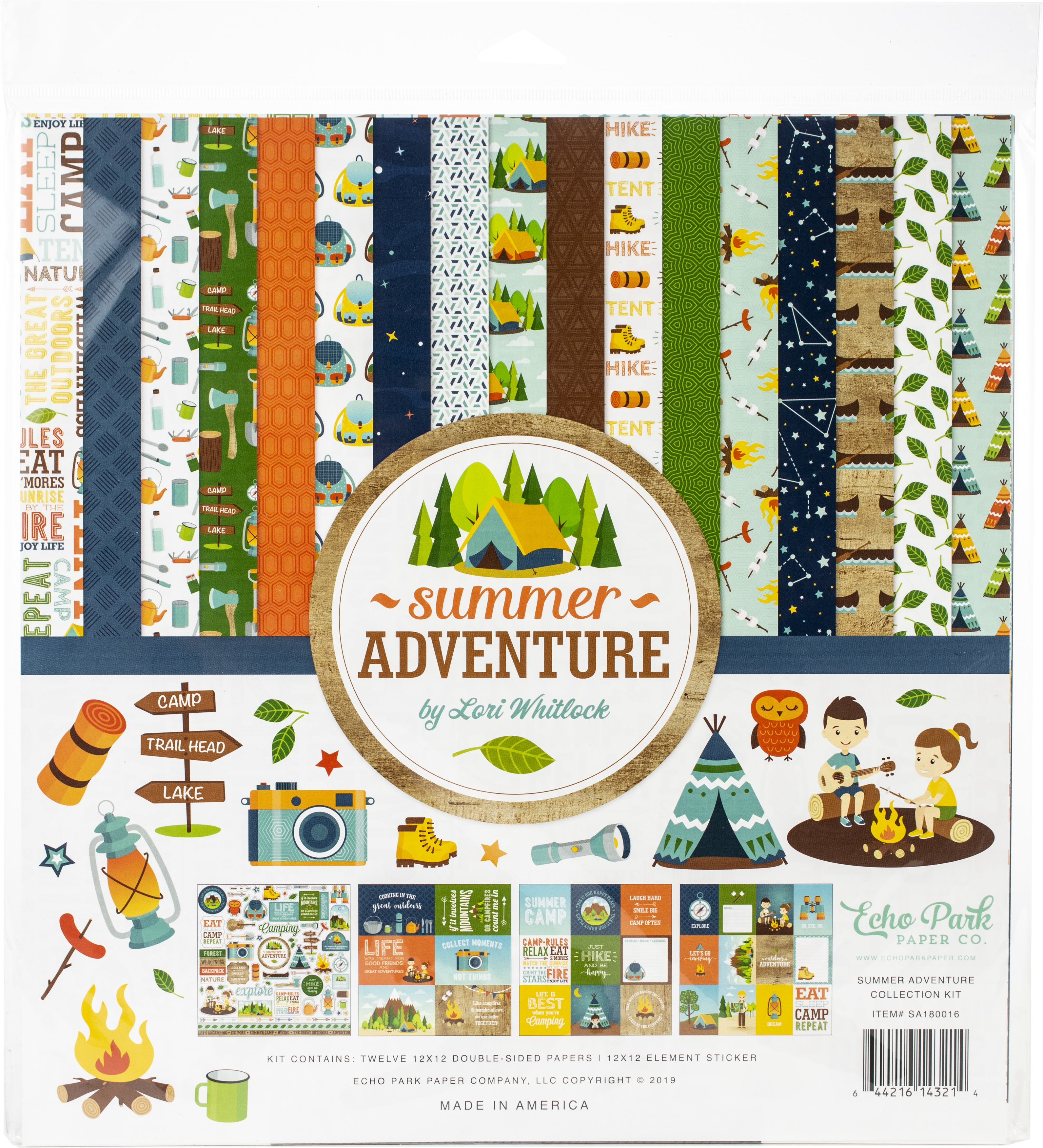 Summer Adventure Echo Park Collection Kit 12X12