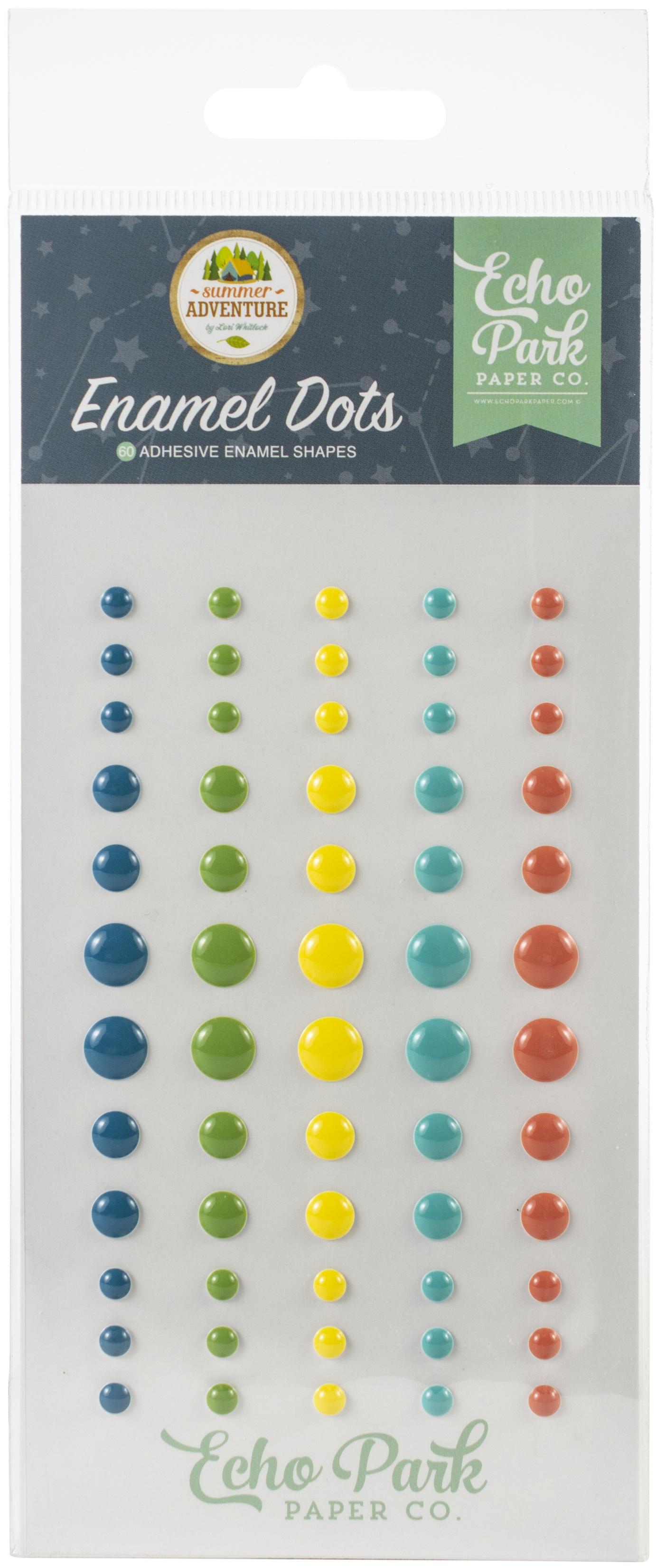 Echo Park Adhesive Enamel Dots 60/Pkg-Summer Adventure
