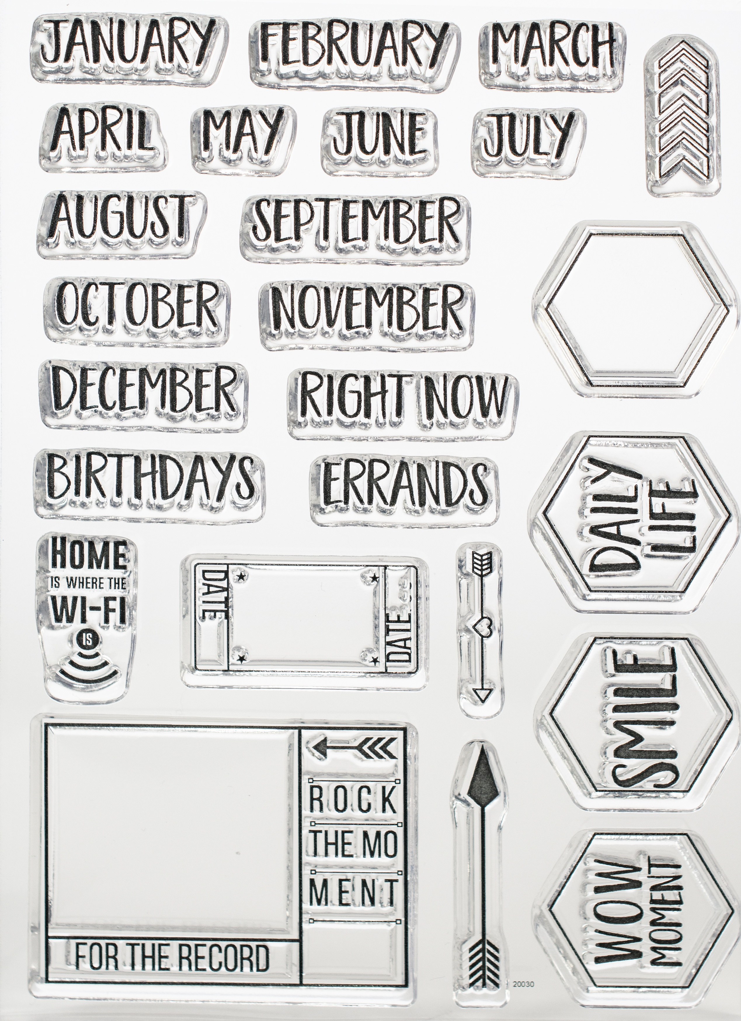 EC - Months Stamp Set