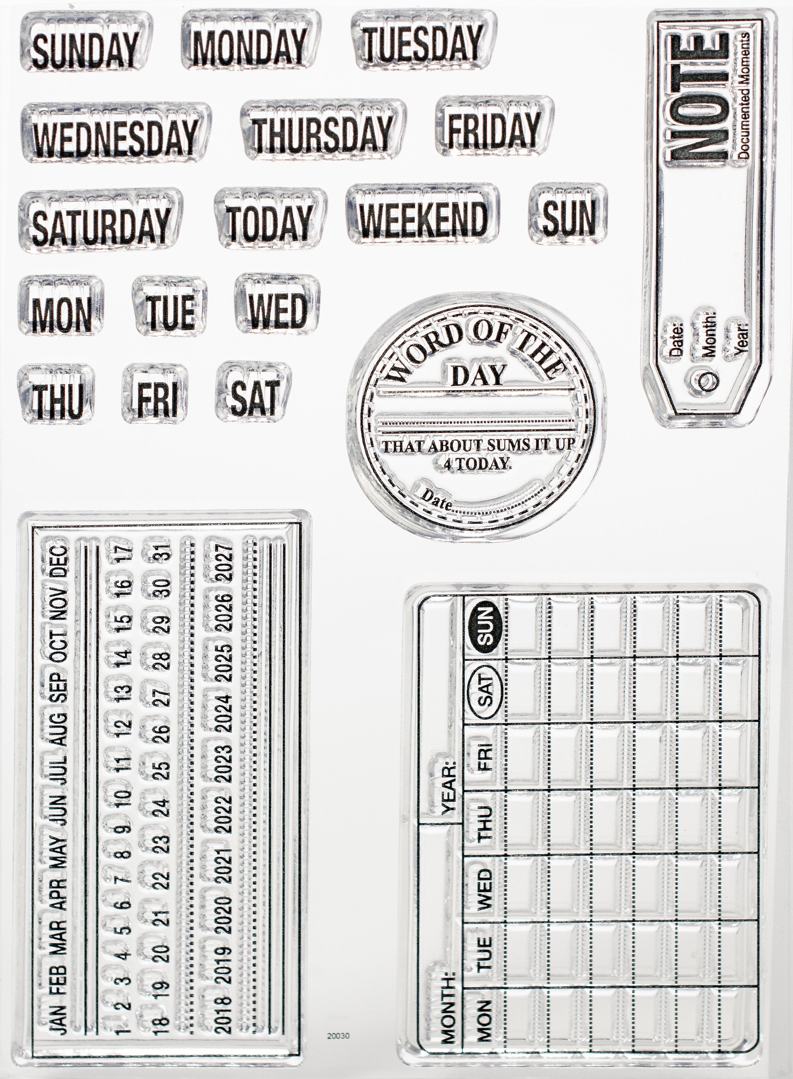 EC - Calendar Stamp Set