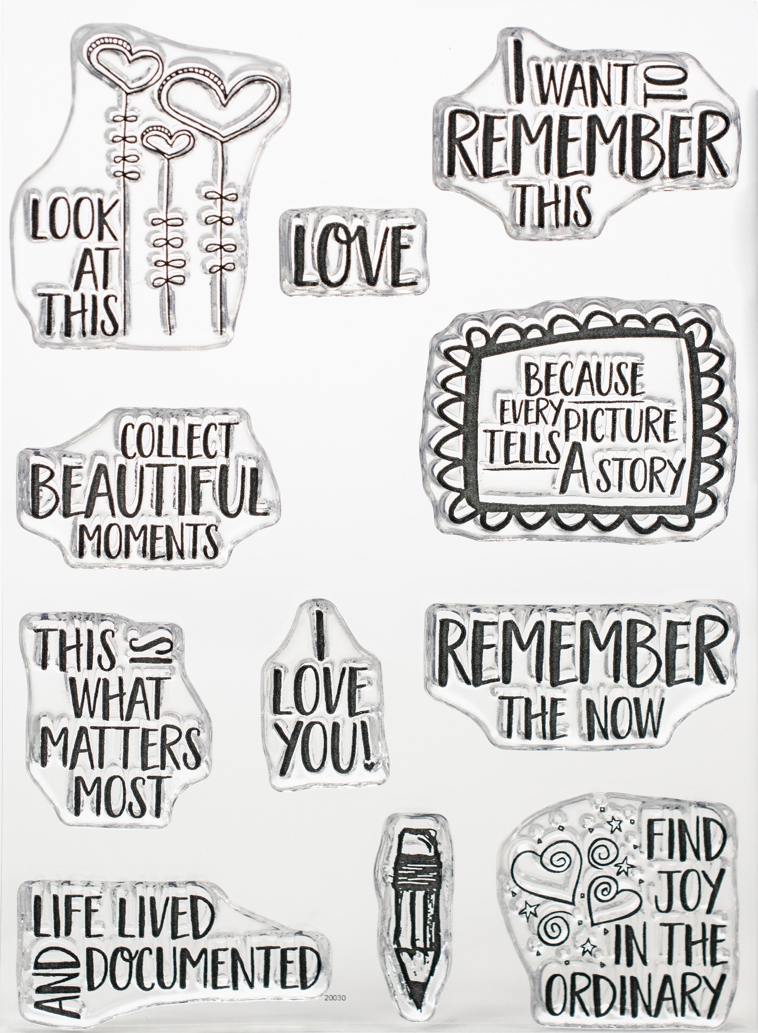 Elizabeth Craft Clear Stamps-Remember