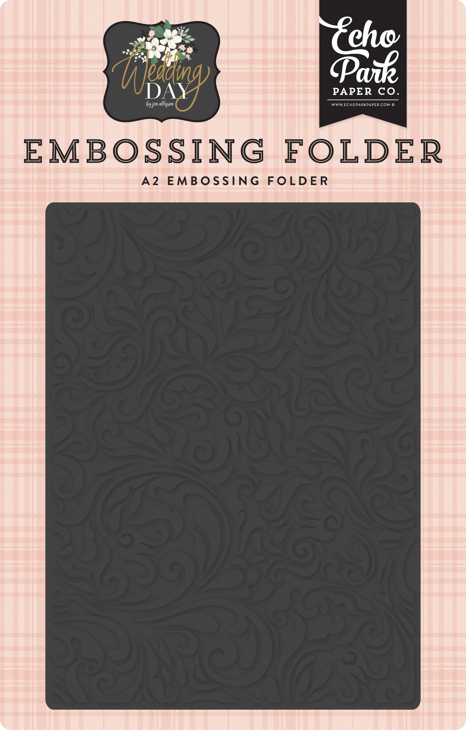Echo Park Embossing Folder A2-Elegant Damask