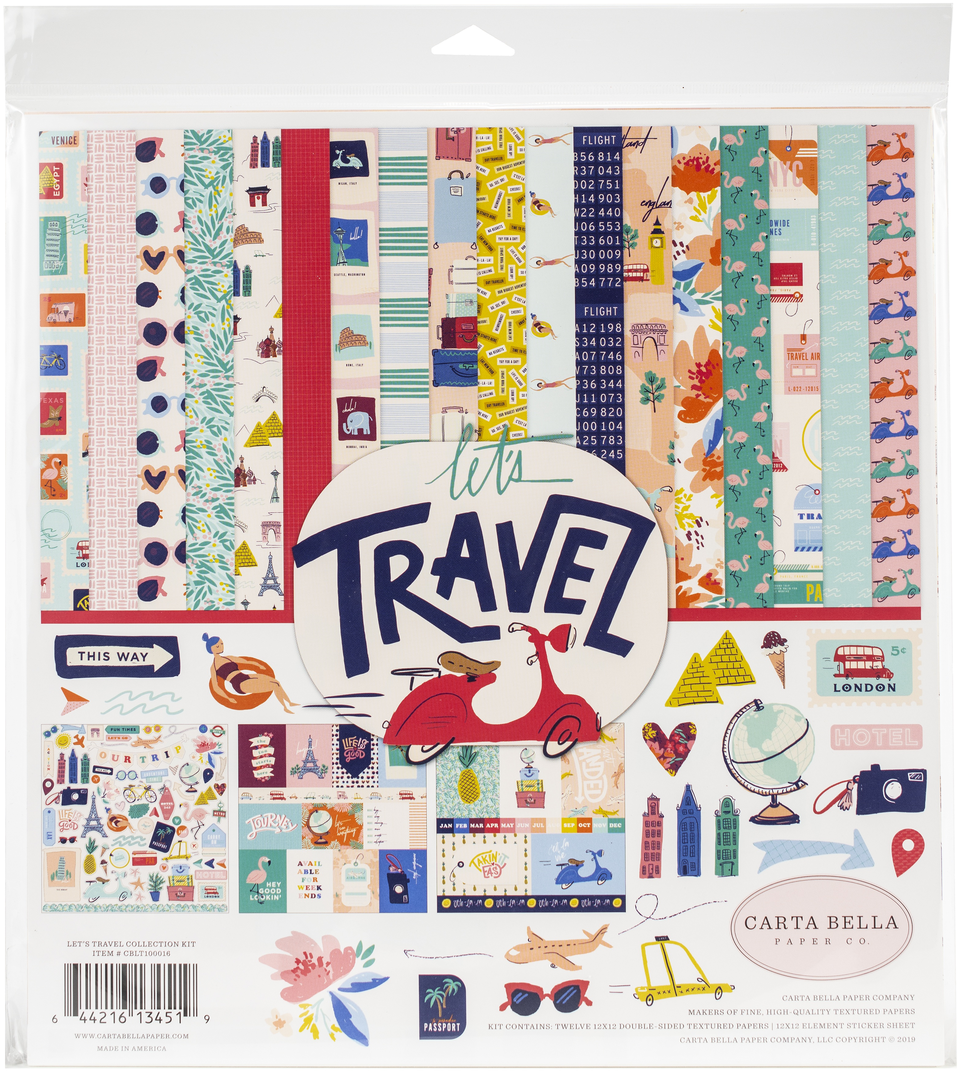 Carta Bella Collection Kit 12X12-Let's Travel