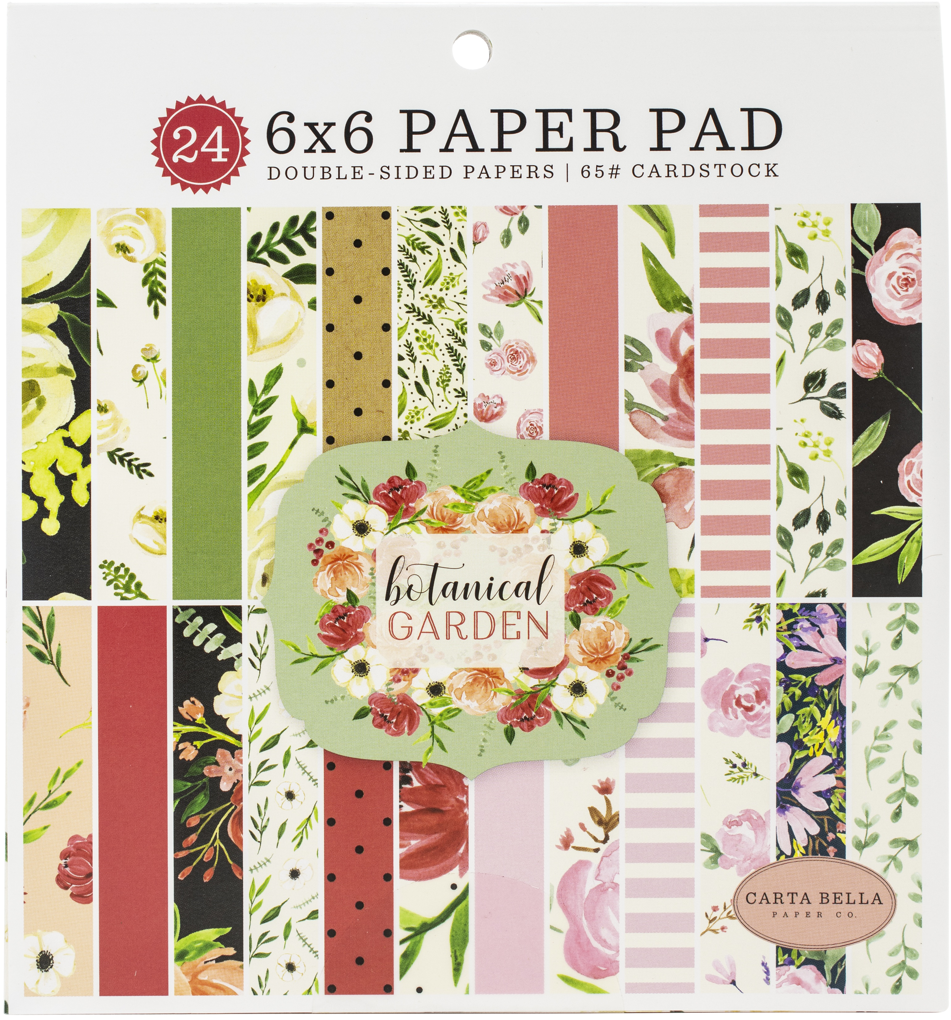 ^Carta Bella - 6x6 Paper Pad - Botanical Garden