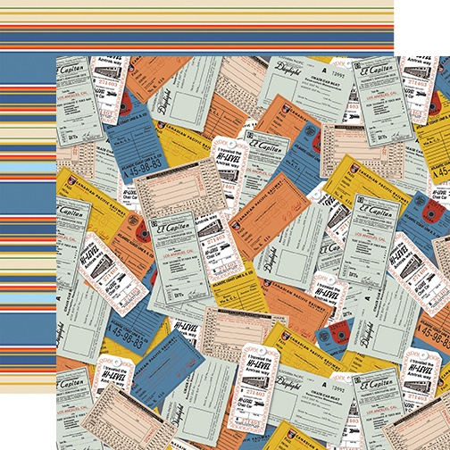 All Aboard Double-Sided Cardstock 12X12-Tickets