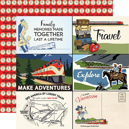 Carta Bella All Aboard 4x6 Journaling Cards