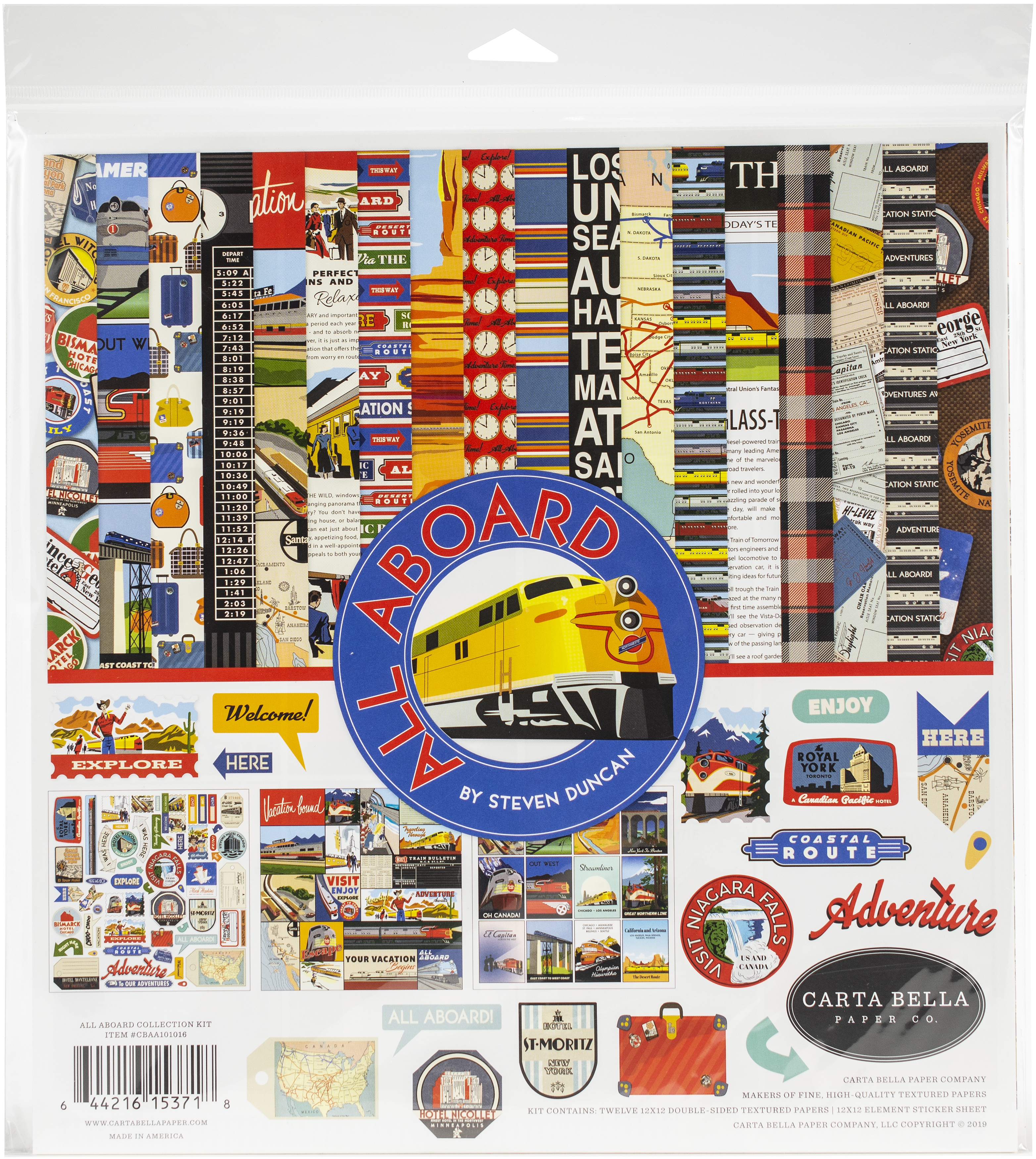 Carta Bella Collection Kit 12X12-All Aboard
