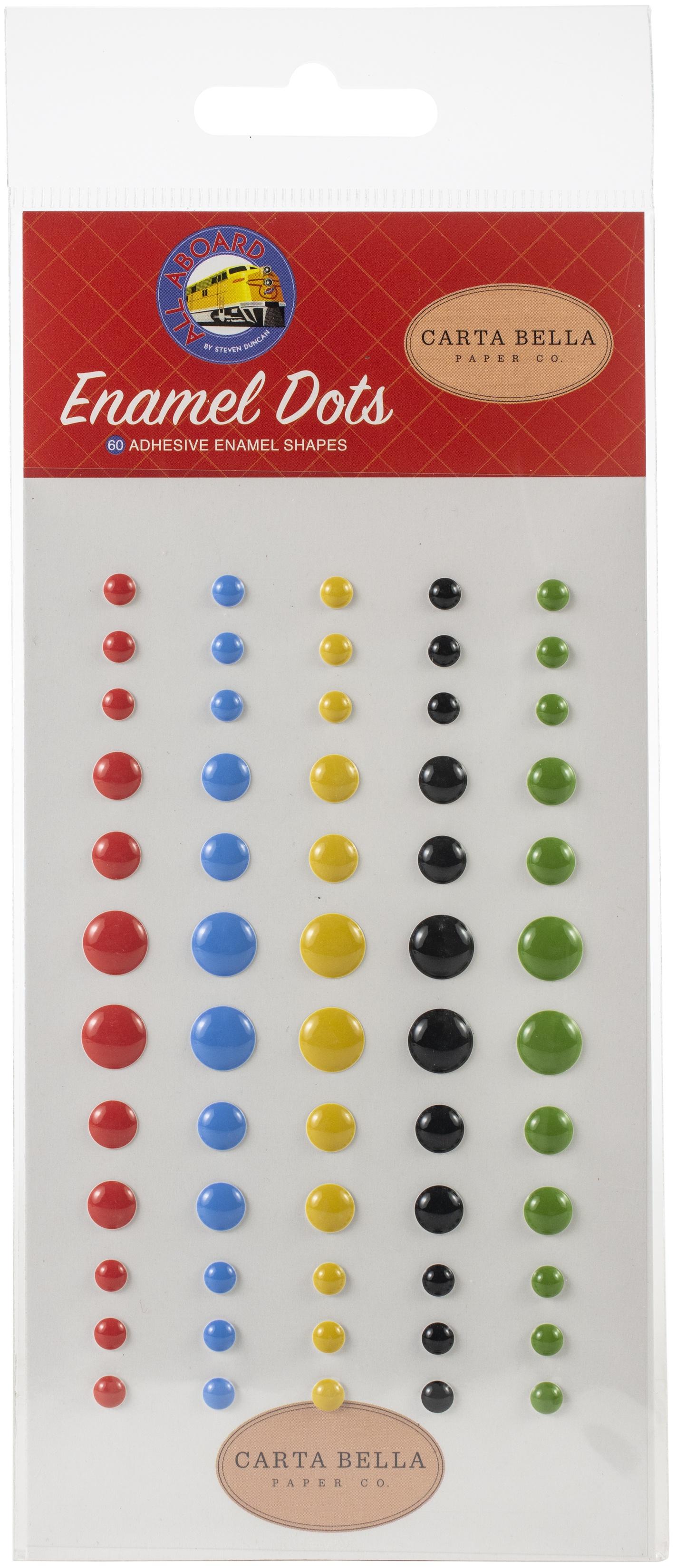 Carta Bella Adhesive Enamel Dots 60/Pkg-All Aboard