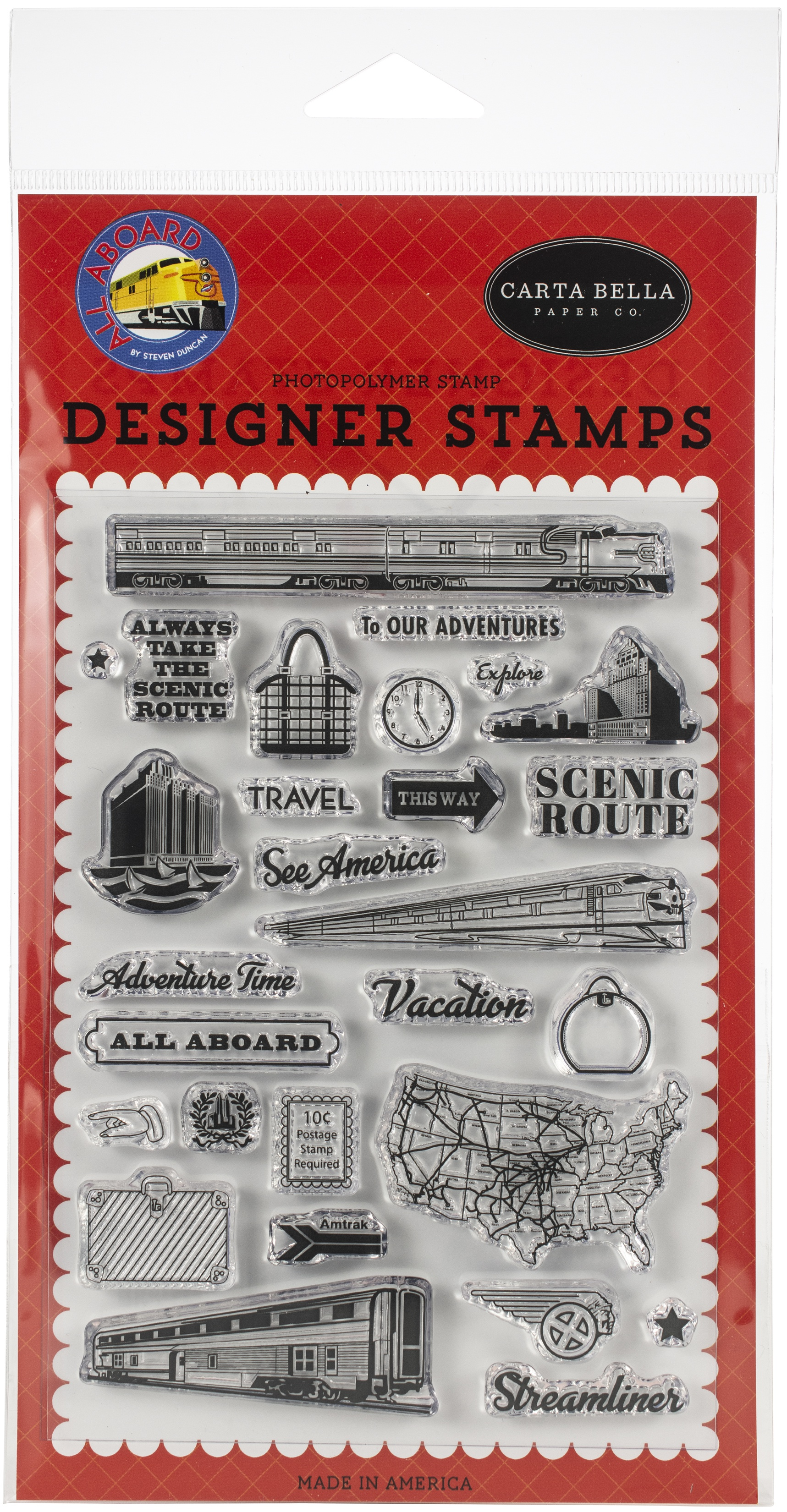 Carta Bella Stamps-To Our Adventures