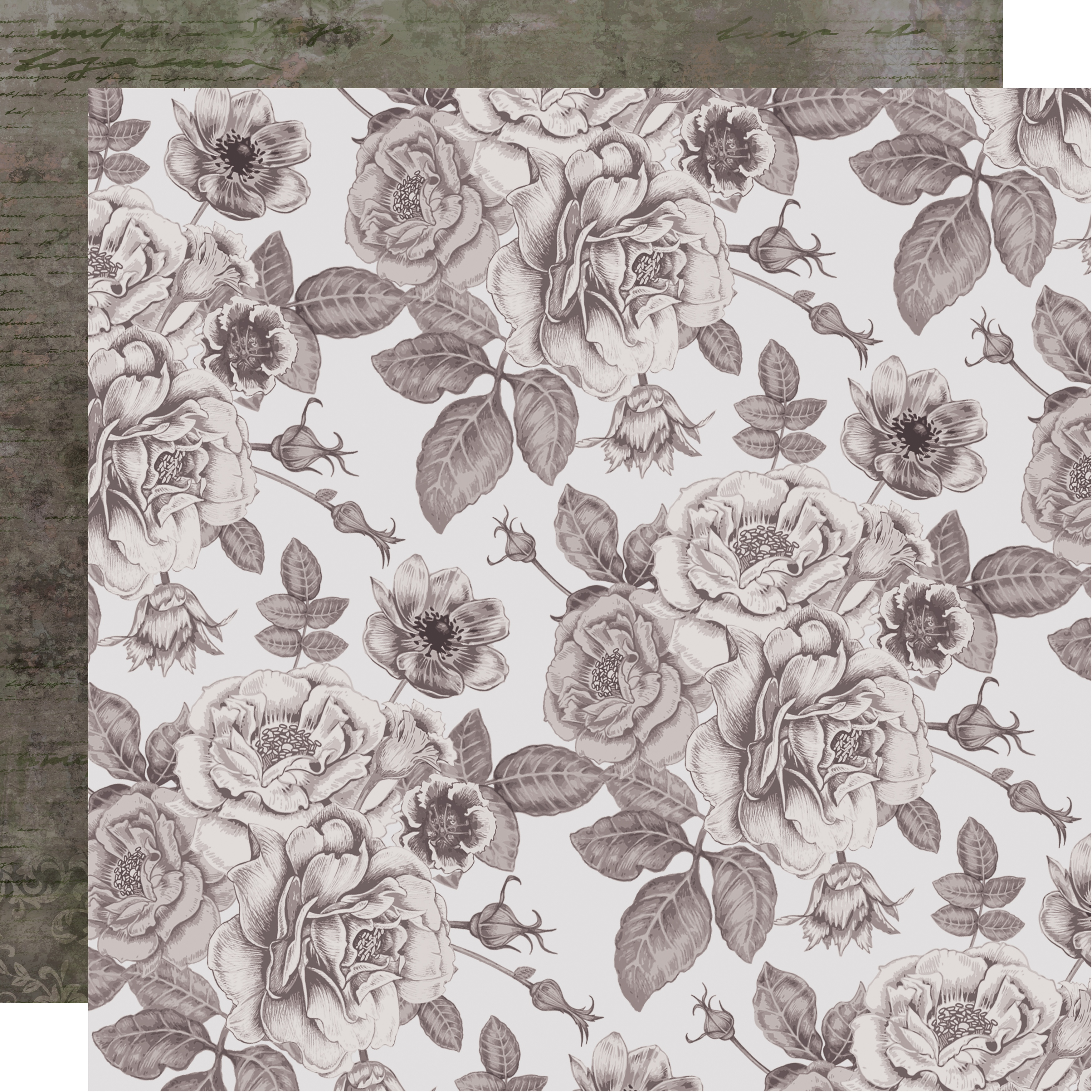 Rosabella Double-Sided Cardstock 12X12-Sombre Botanic