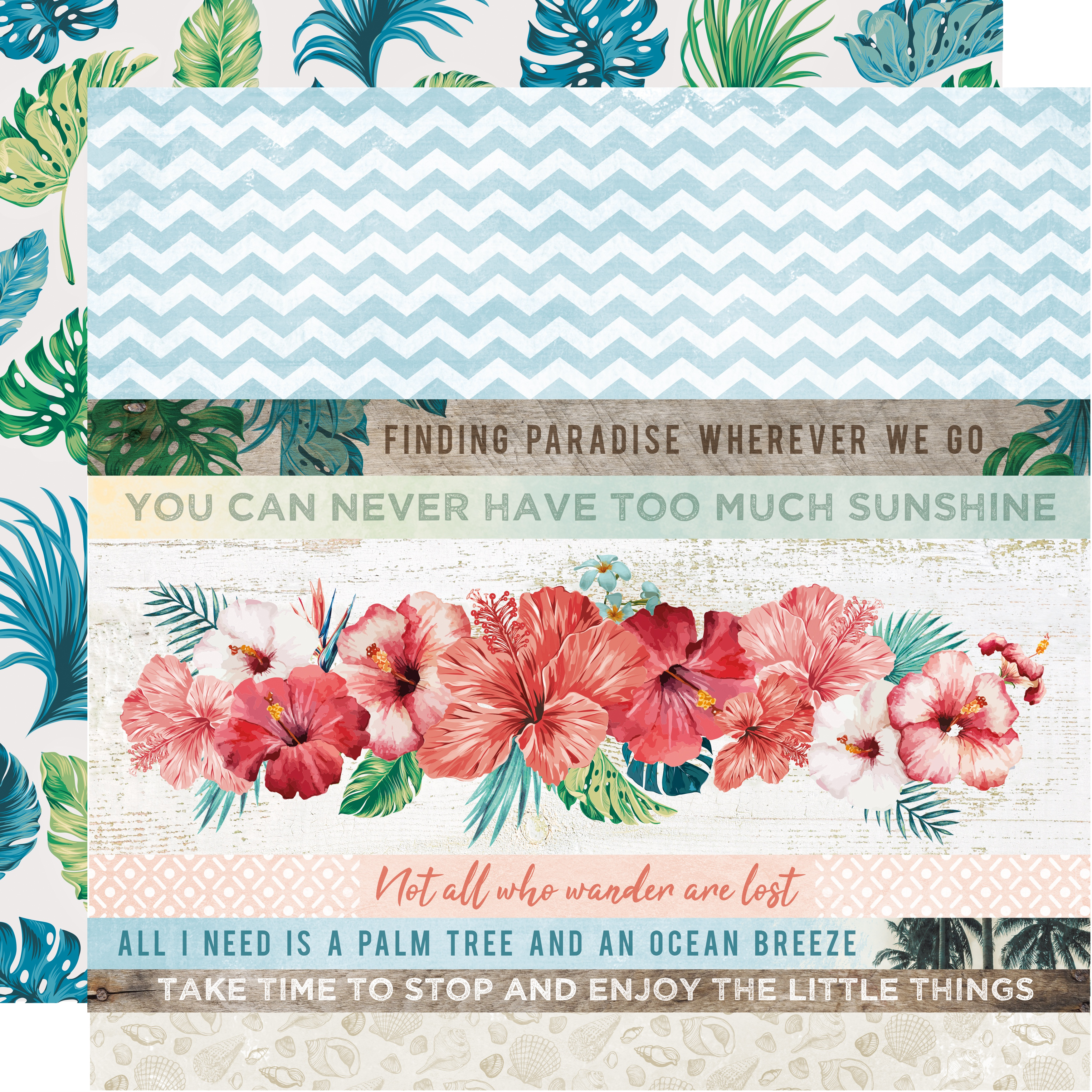 Paradise Found Double-Sided Cardstock 12X12-White Sands