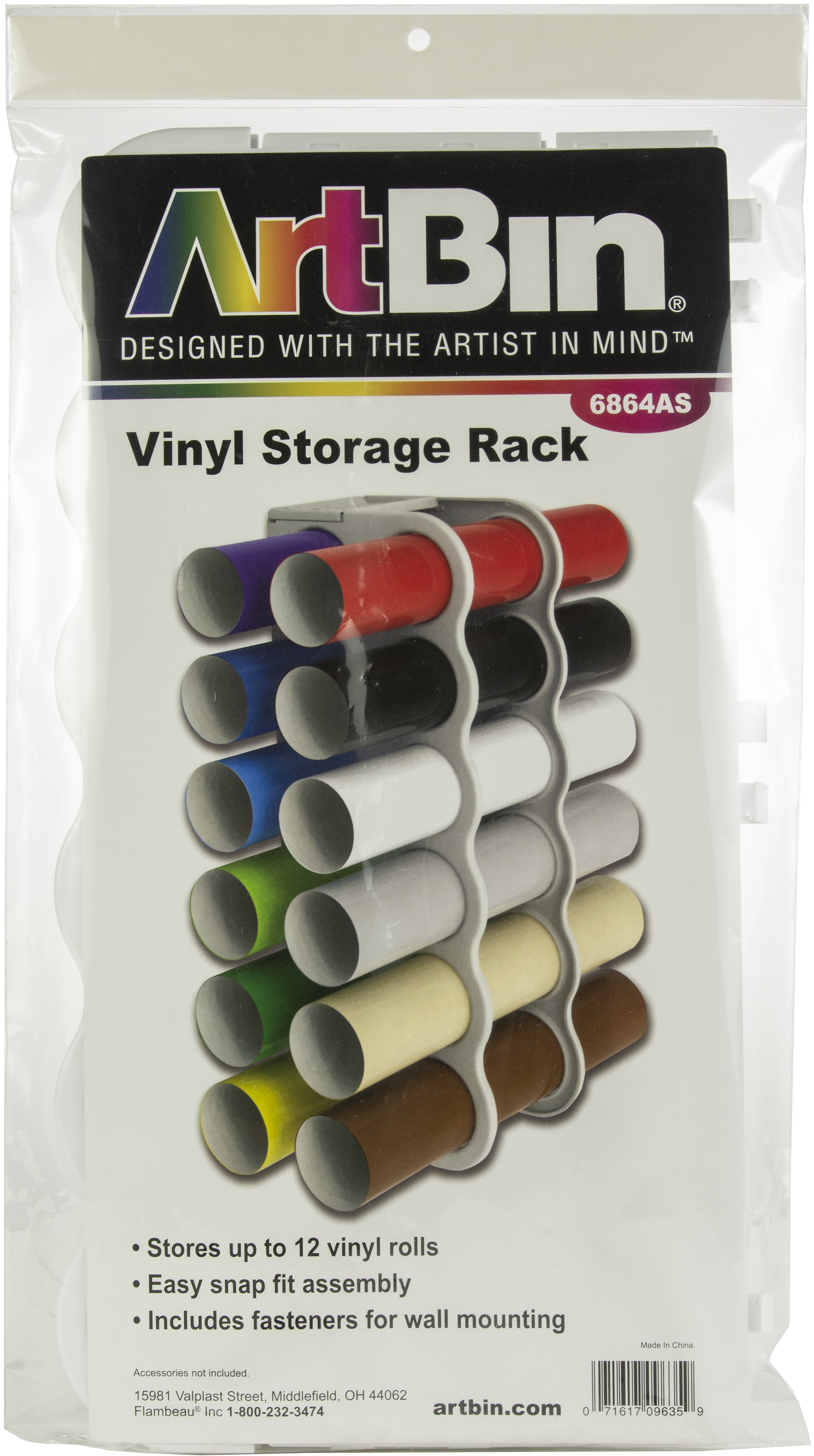 ArtBin Vinyl Roll Storage Rack -White