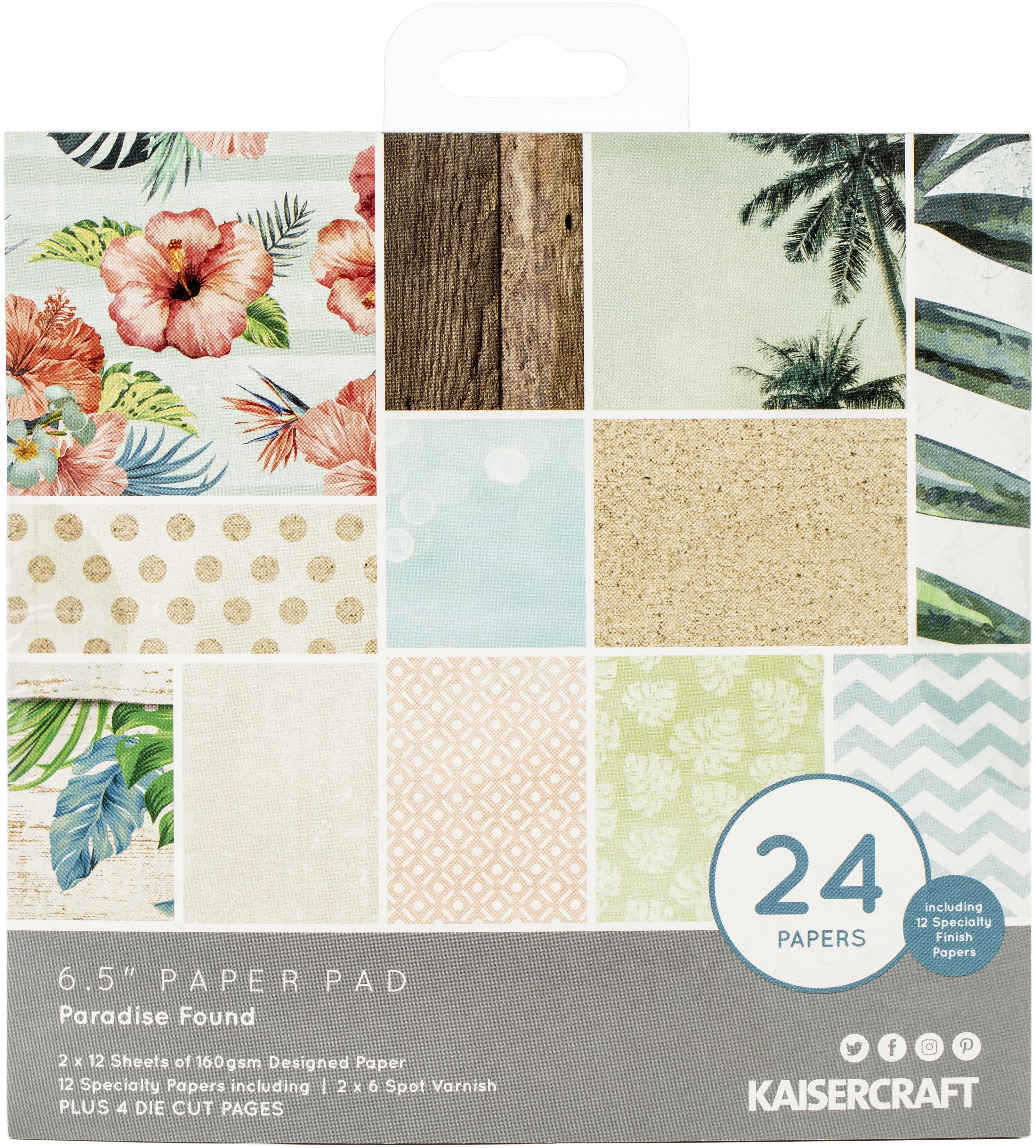 Kaisercraft Paper Pad 6.5X6.5 40/Pkg-Paradise Found