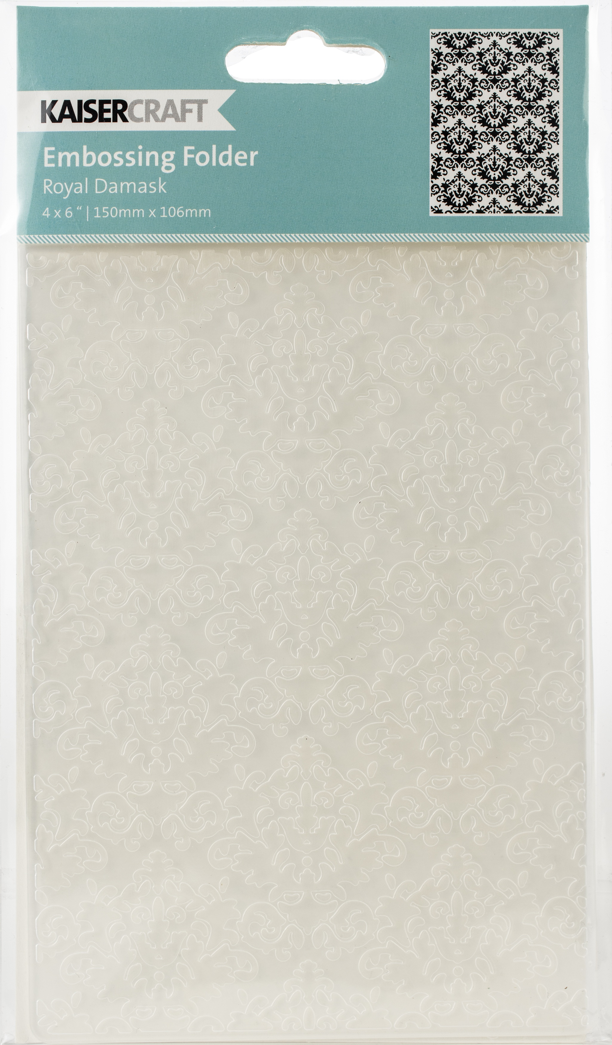 Kaisercraft Embossing Folder 4X6-Royal Damask