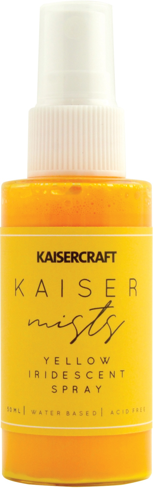 KaiserMists Iridescent Ink Spray 1.5oz-Yellow