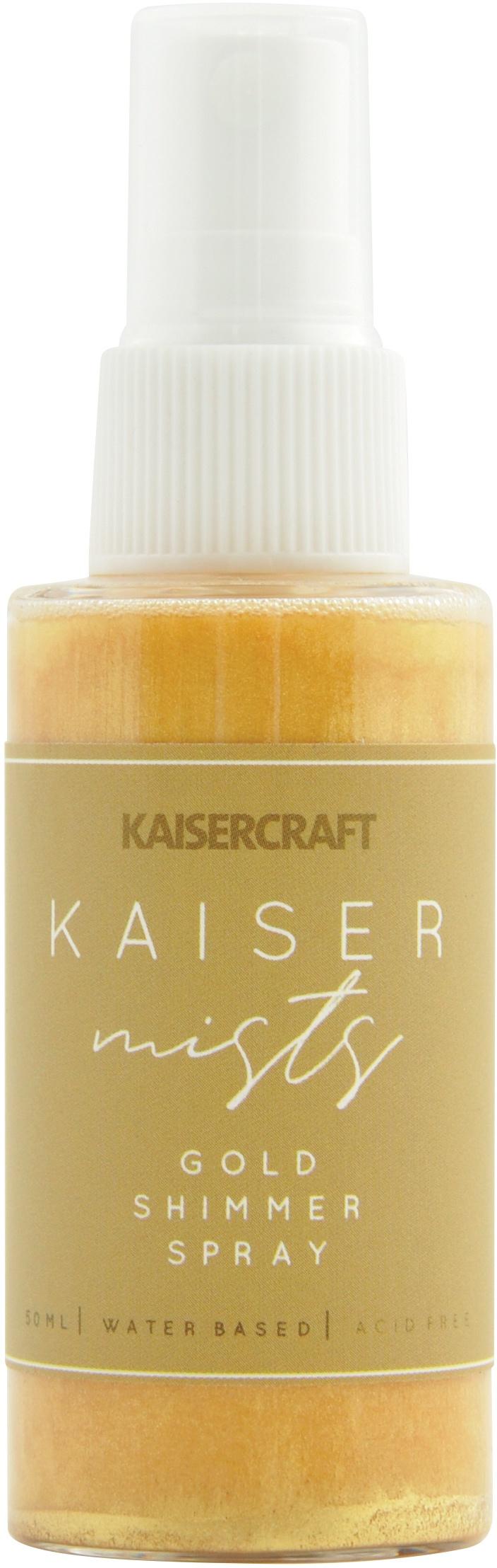 KaiserMists Iridescent Ink Spray 1.5oz-Gold Shimmer