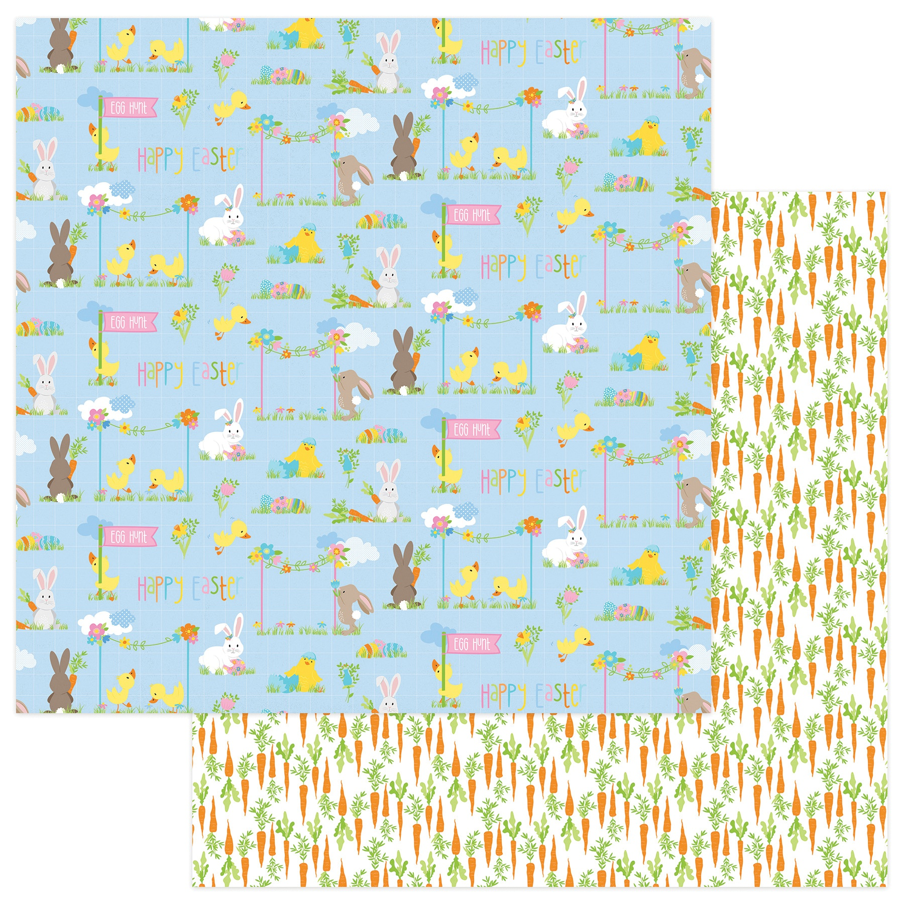 Bunny Trail Double-Sided Cardstock 12X12-Easter Parade