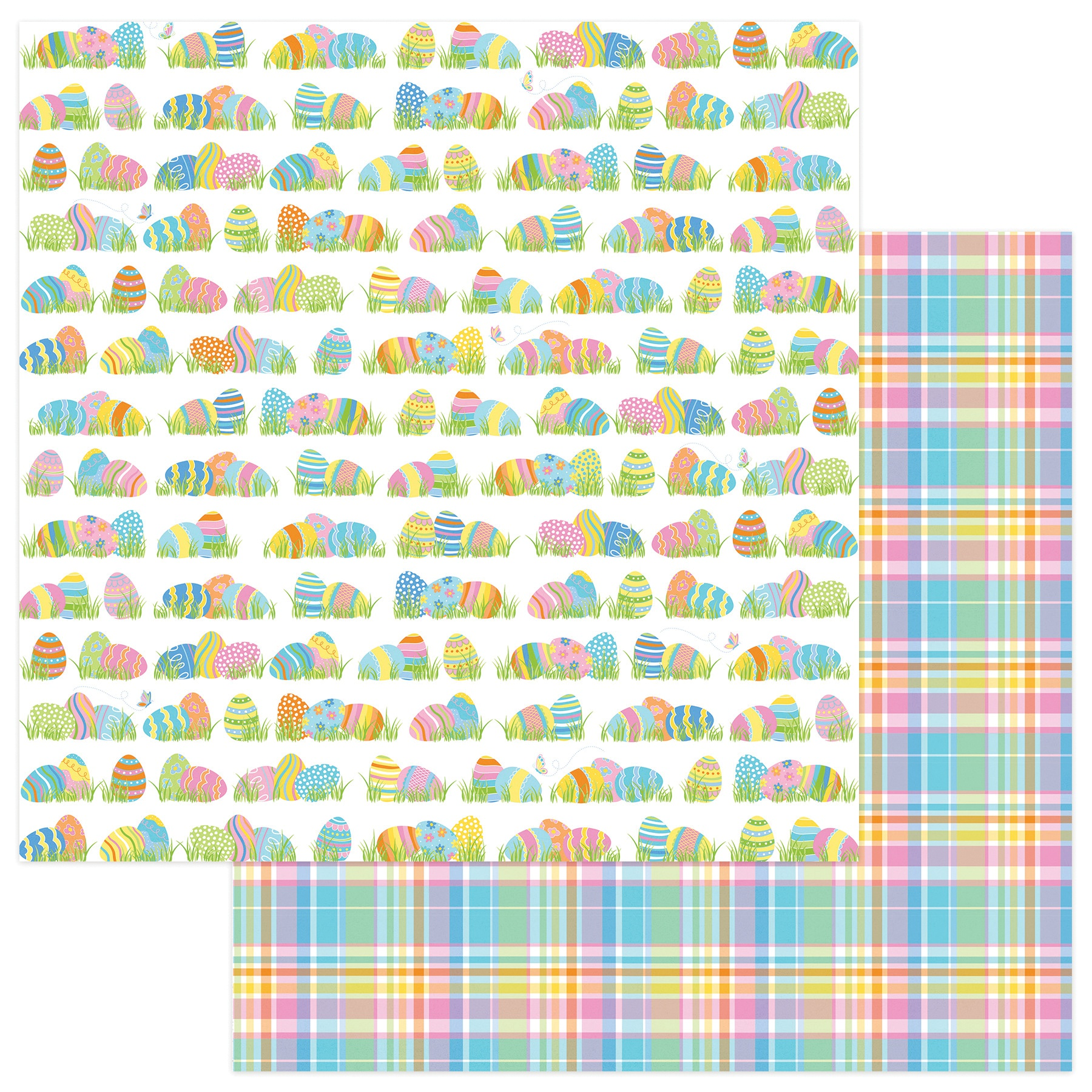 Bunny Trail Double-Sided Cardstock 12X12-Egg Hunt