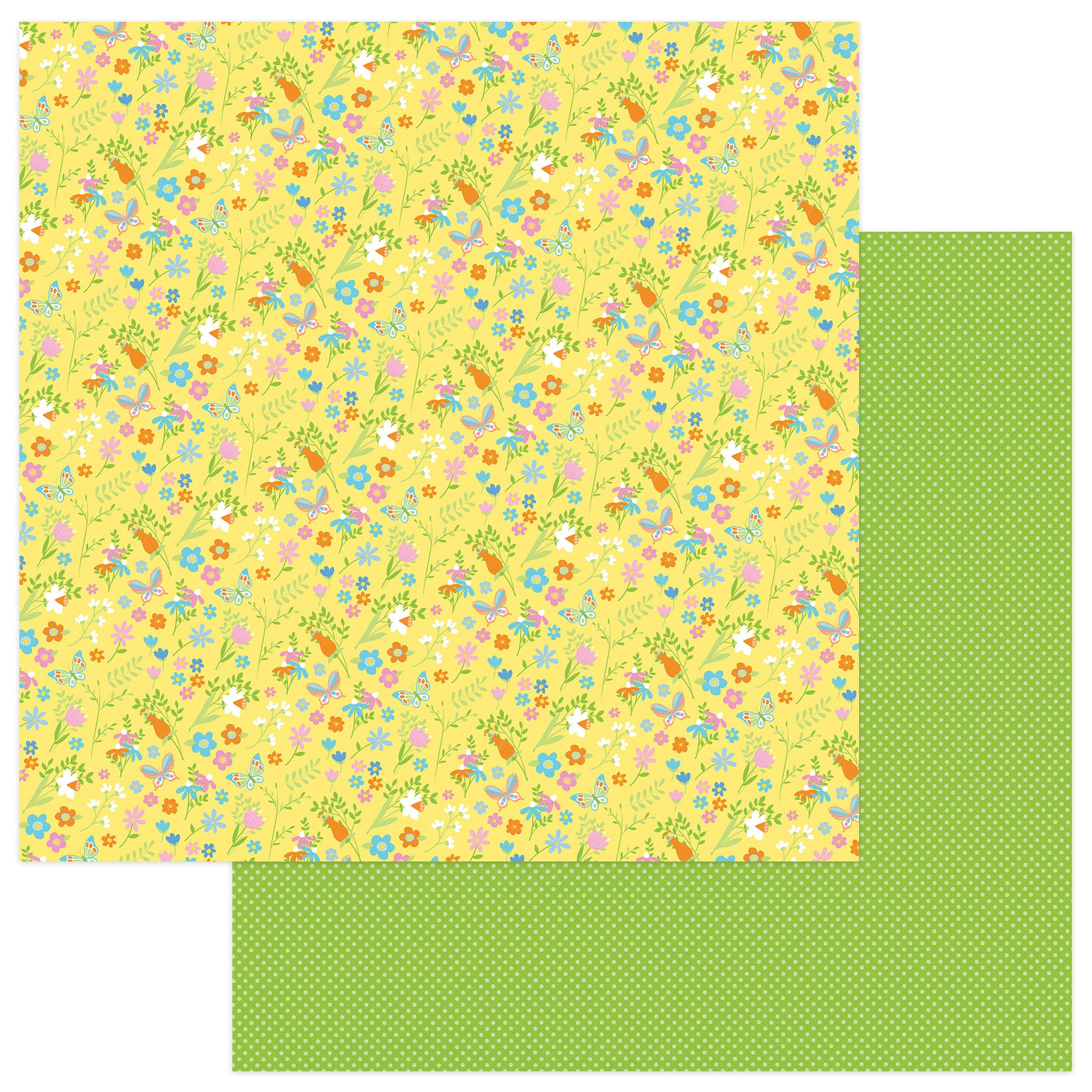 Bunny Trail Double-Sided Cardstock 12X12-Spring Flowers