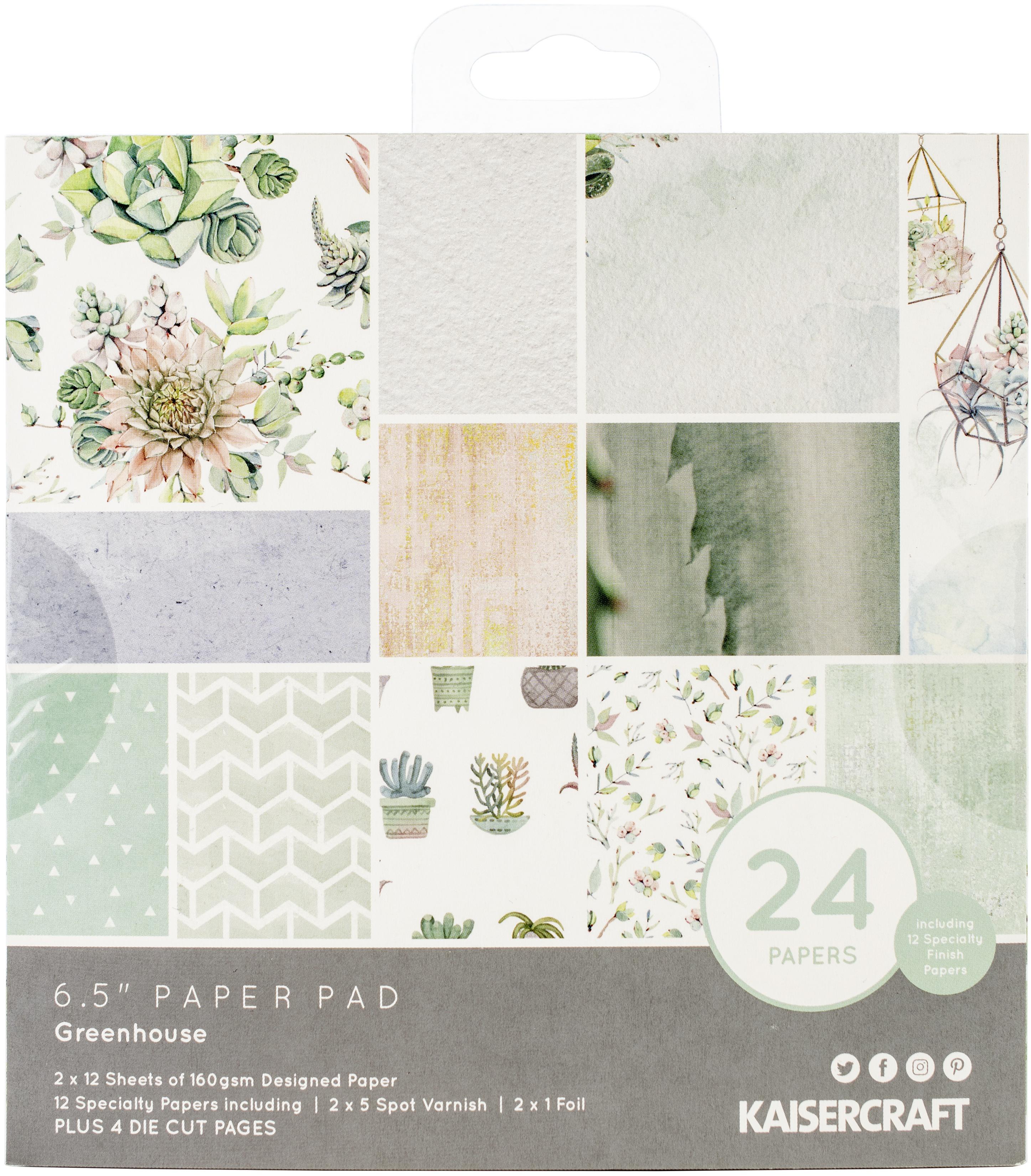 Kaisercraft - Greenhouse - 6.5 Paper Pad