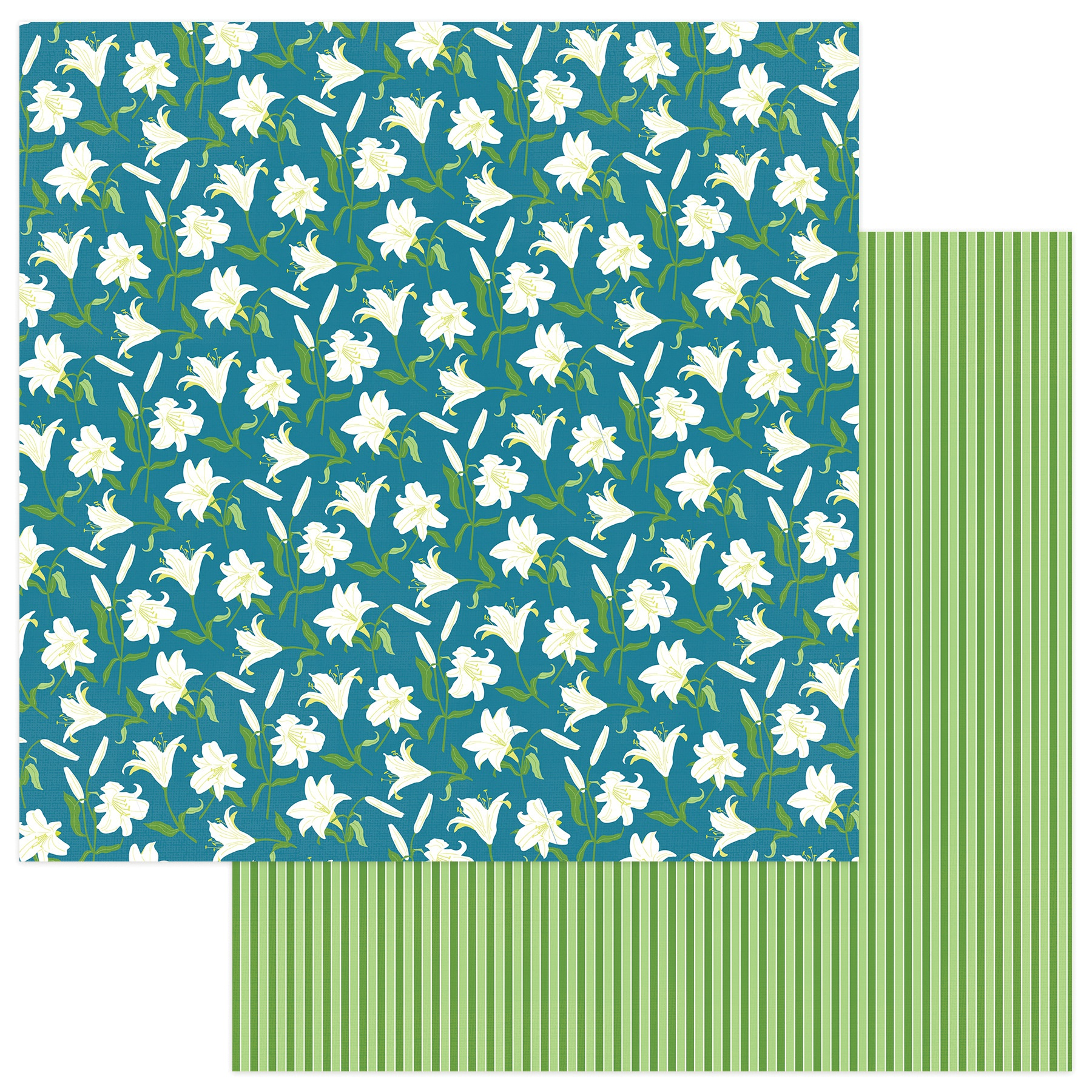 Easter Trail Double-Sided Cardstock 12X12-Easter Lilies
