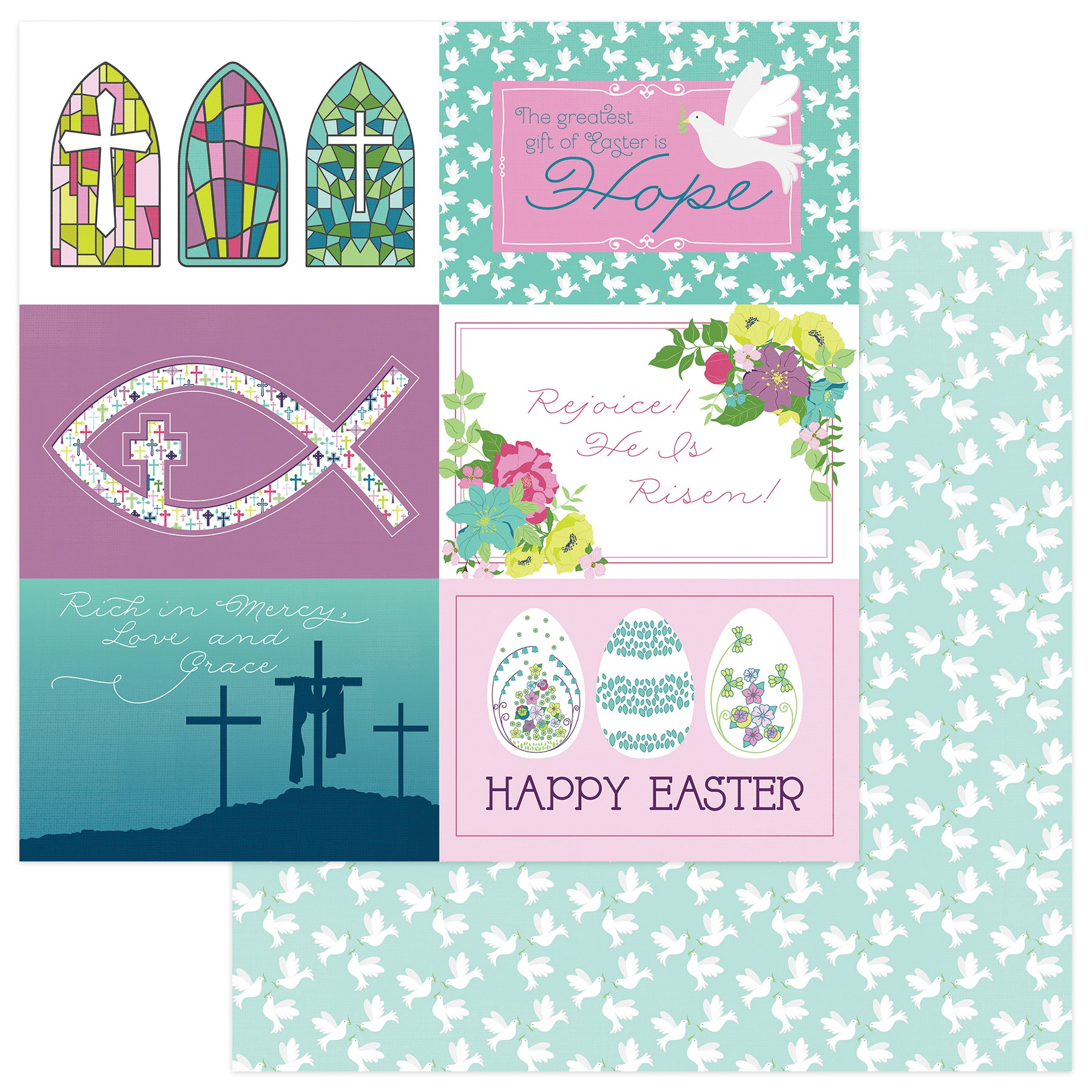 Easter Trail Double-Sided Cardstock 12X12-Easter Morning