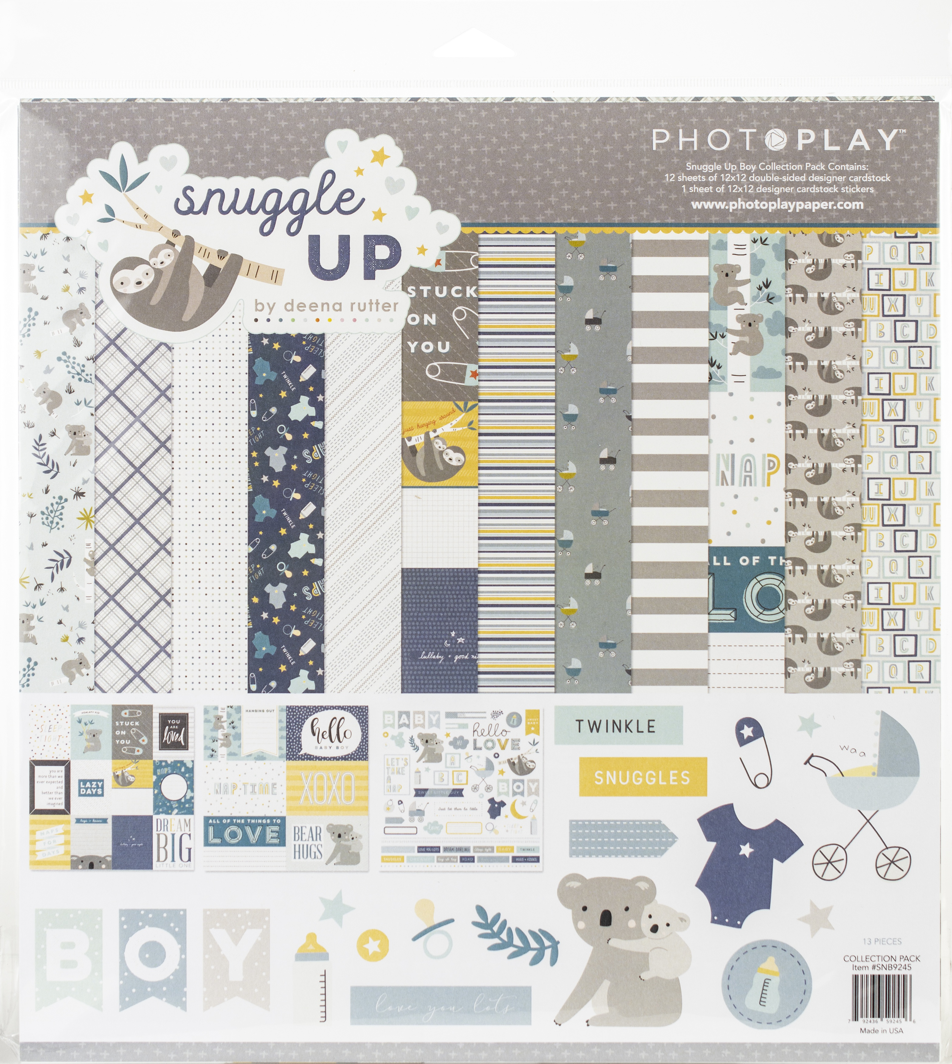 PhotoPlay Collection Pack 12X12-Snuggle Up Boy