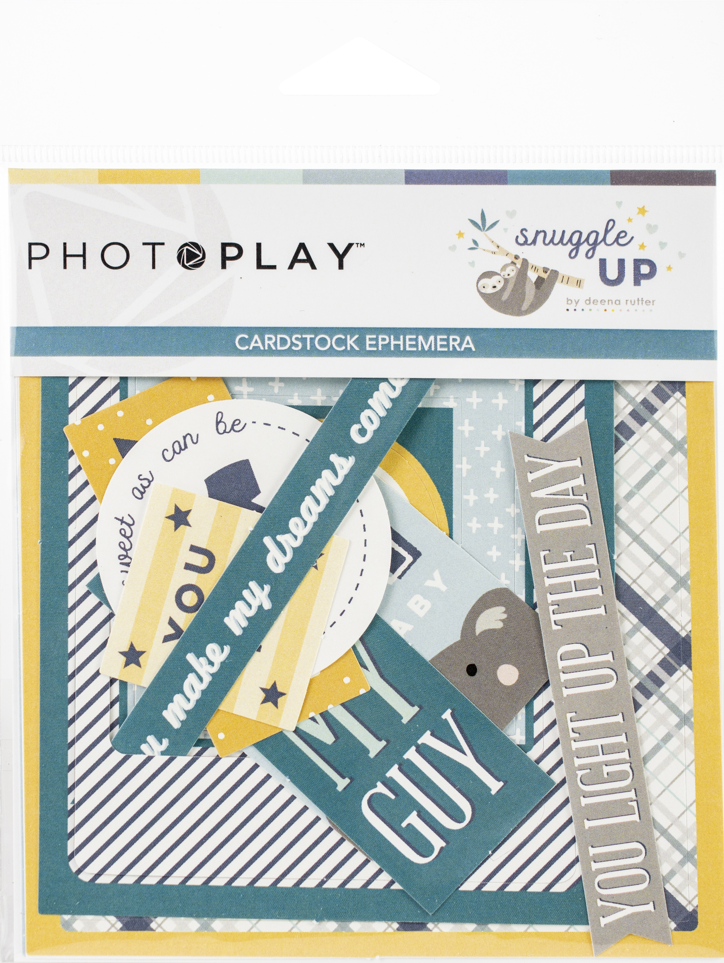 Snuggle Up Boy Ephemera Cardstock Die-Cuts