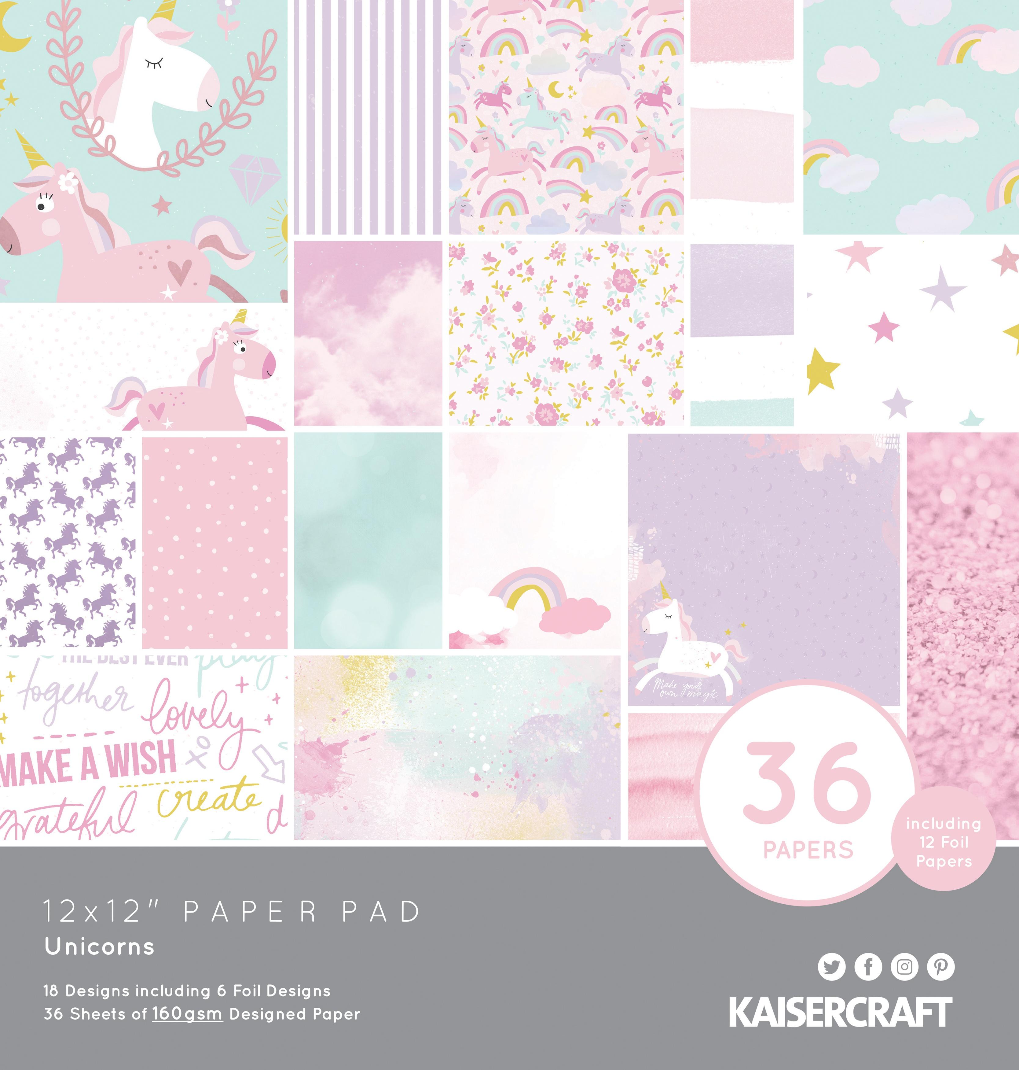 Unicorns - 12x12 Paper Pad (Kaisercraft)