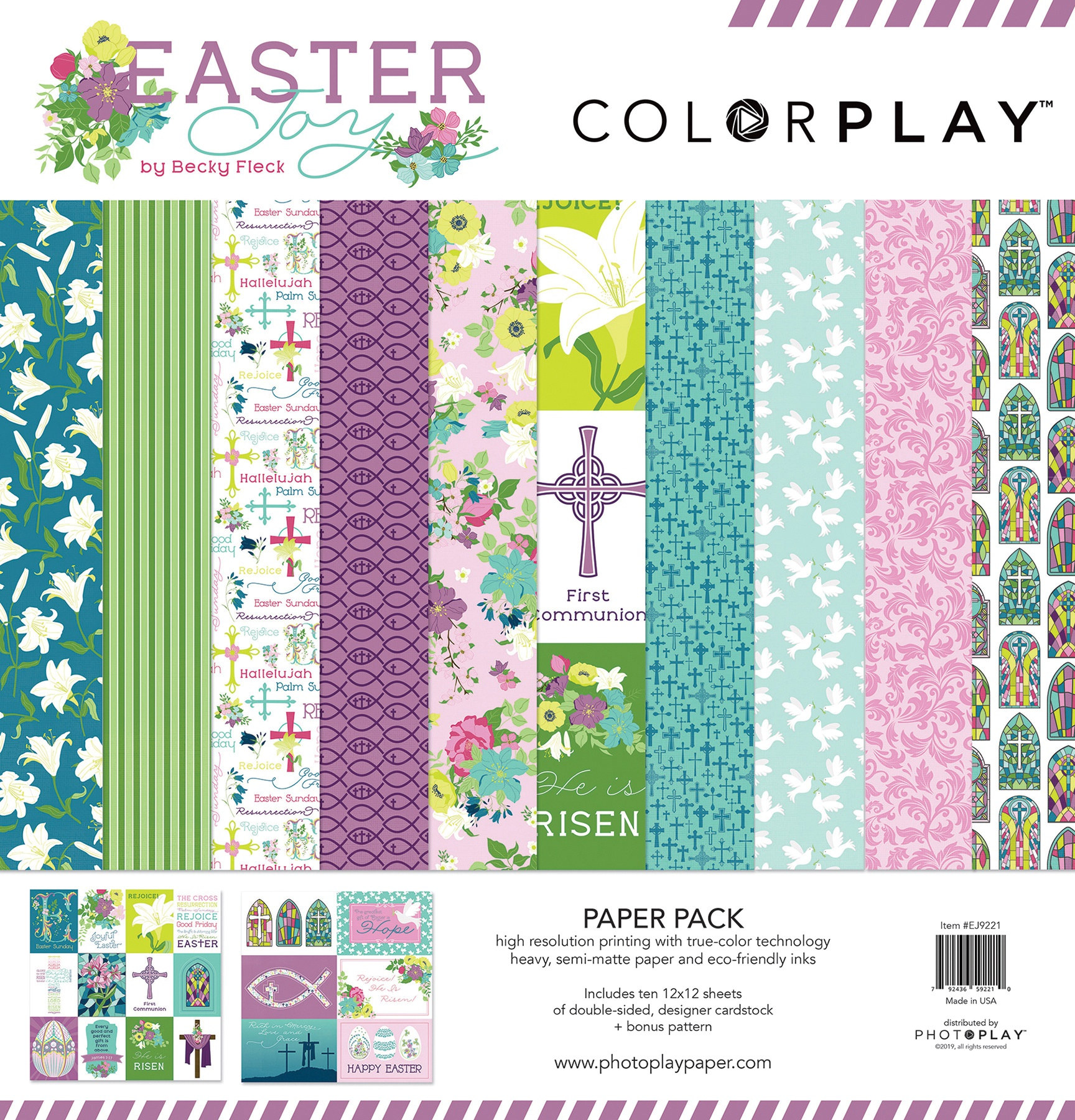 ColorPlay Collection Pack 12X12-Easter Joy