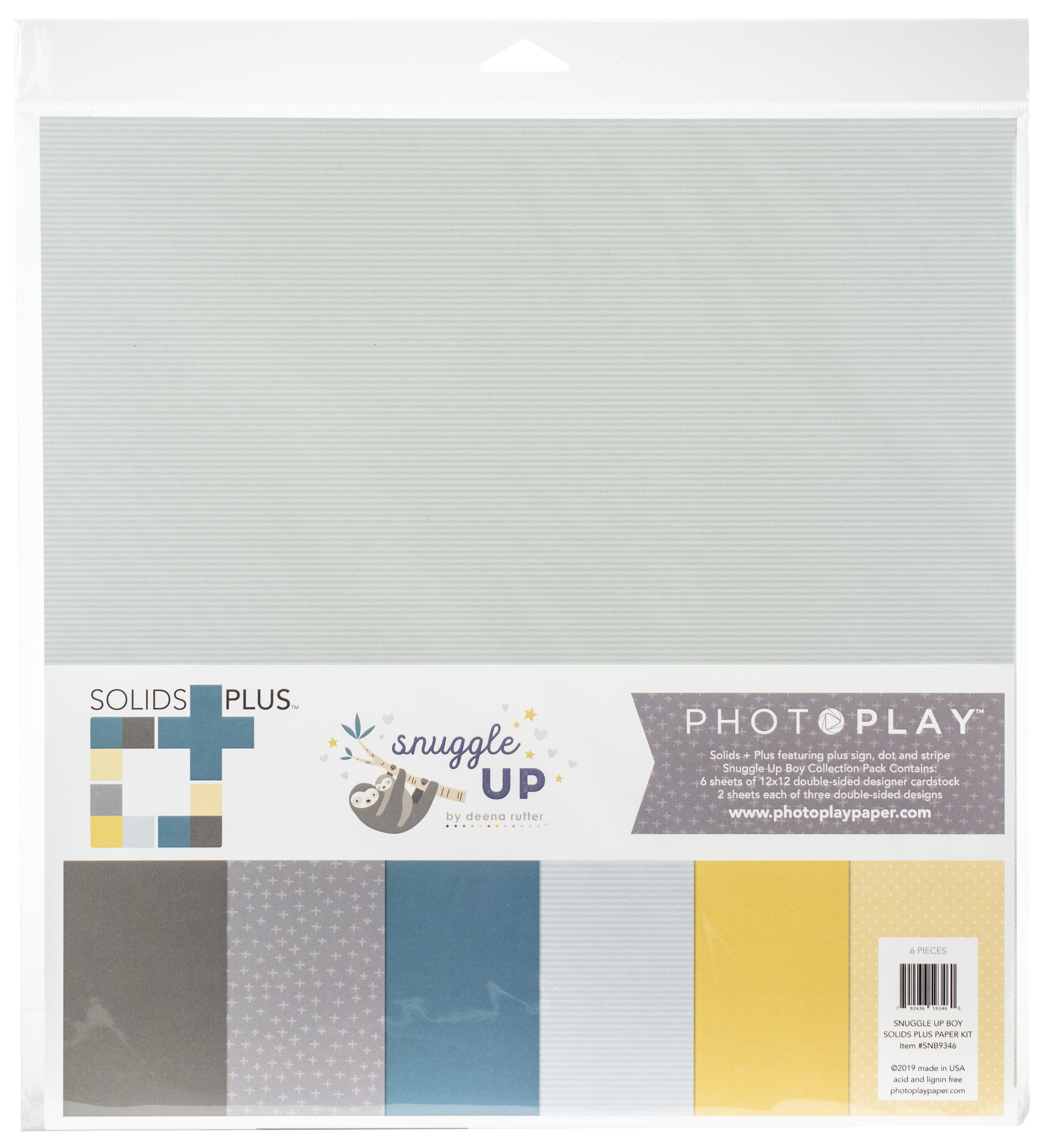 Snuggle Up Boy Solids Plus Collection Pack 12X12