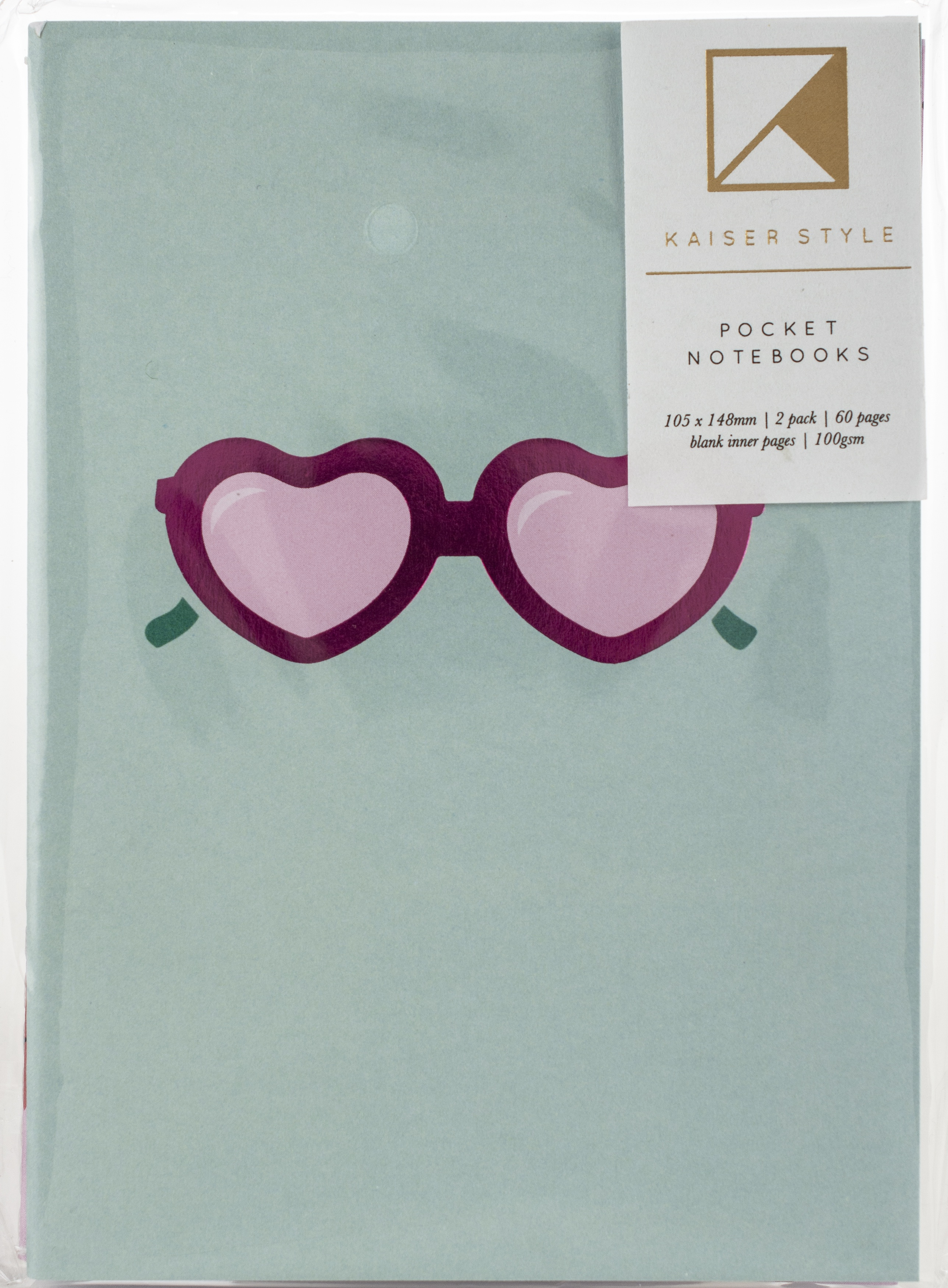 Kaiser Style Pocket Notebooks 4X6 60 Pages 2/Pkg-Glorious; Blank
