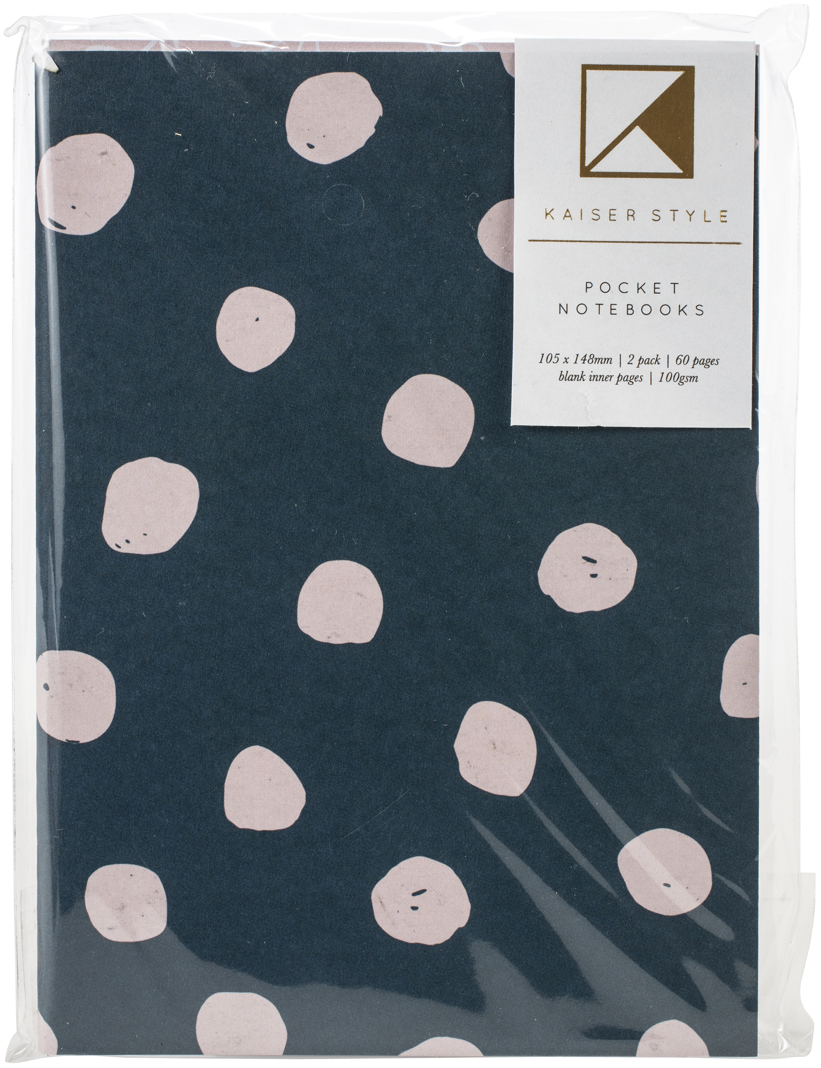 Kaiser Style Pocket Notebooks 4X6 60 Pages 2/Pkg-Rosy; Blank