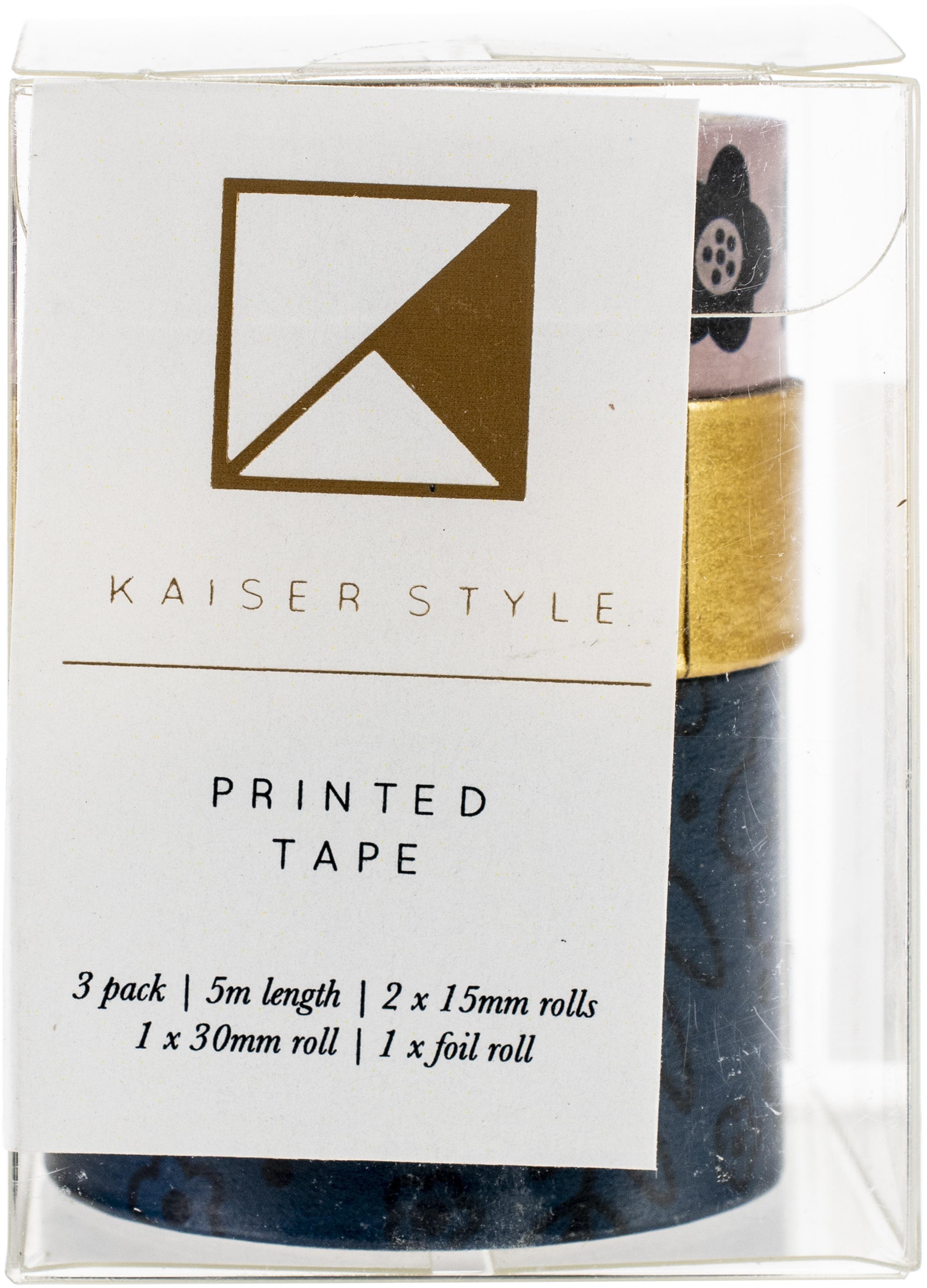 Kaiser Style Printed Tape 3/Pkg-Rosy