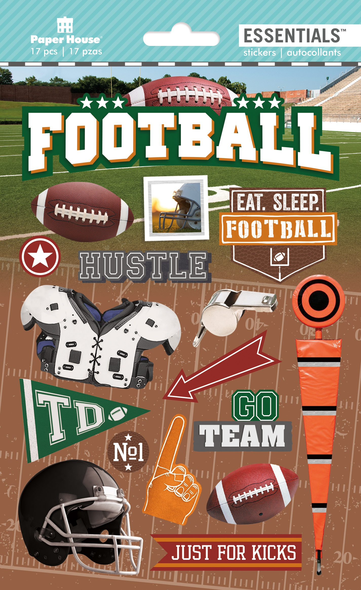 FOOTBALL  -3D STICKERS