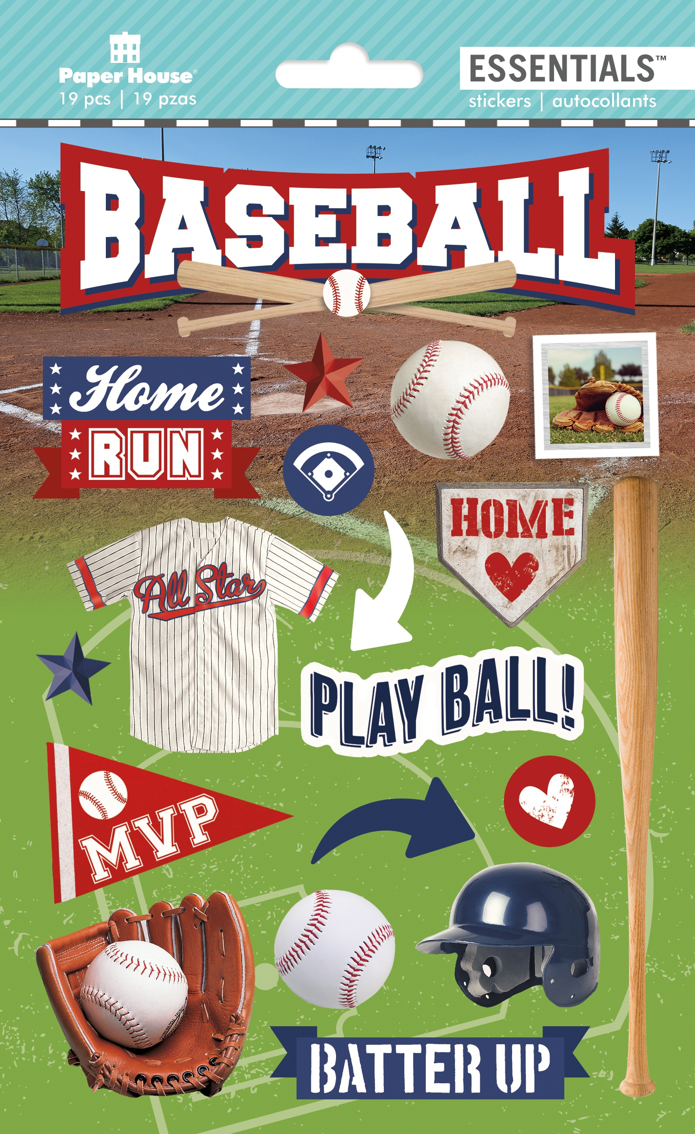 BASEBALL  -3D STICKERS
