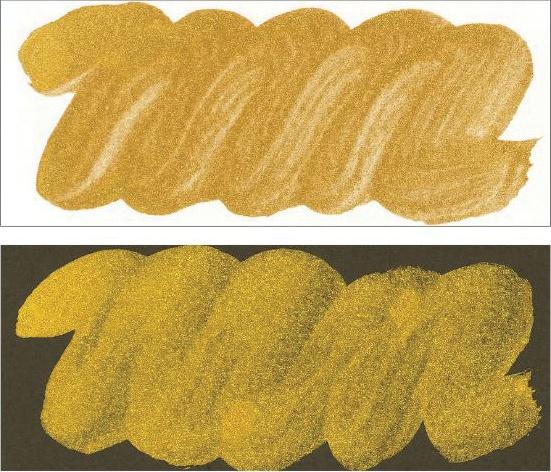 Kuretake Mica Ink 2.02 fl oz-Brilliant Gold