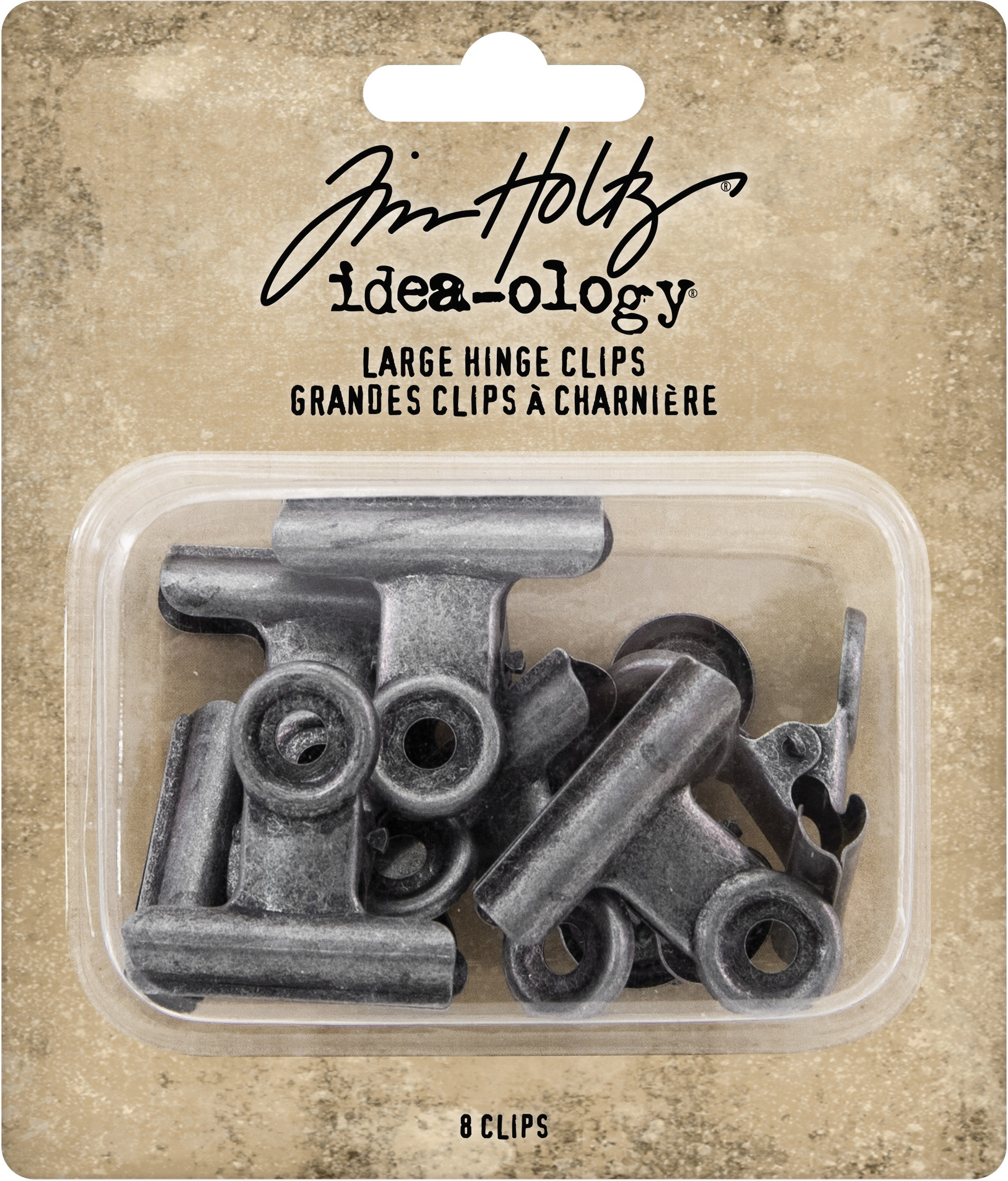Idea-Ology Metal Hinge Clip Large 8/Pkg-