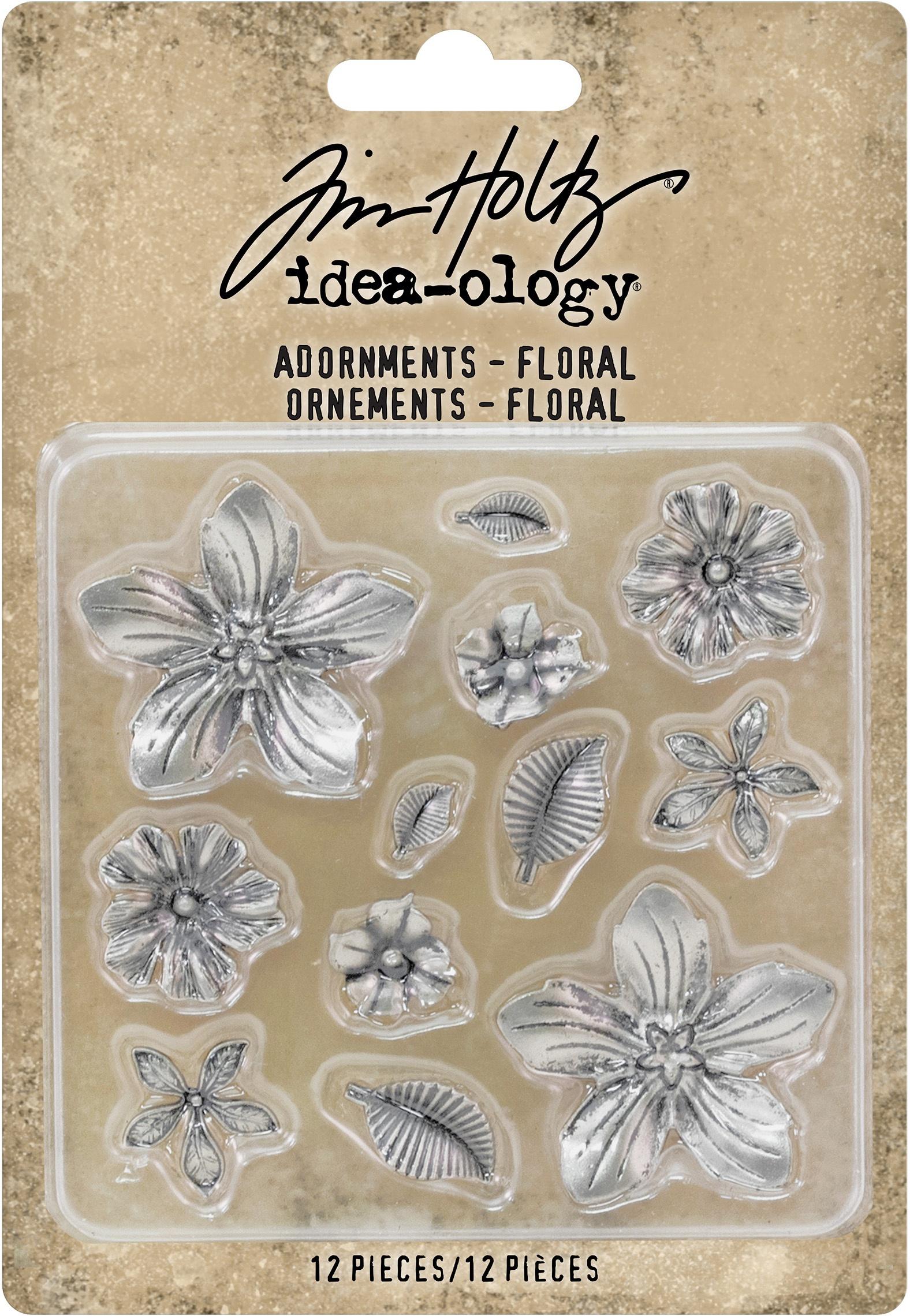 Idea-Ology Metal Adornments 12/Pkg-Floral