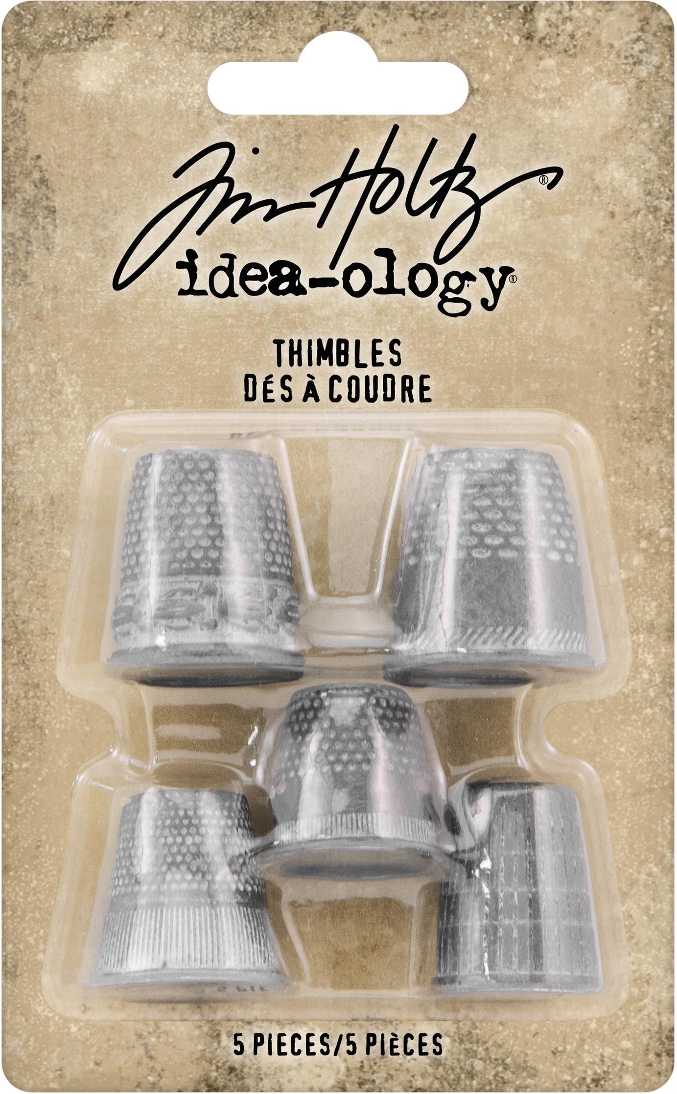Idea-Ology Metal Thimbles 5/Pkg-Mixed Sizes