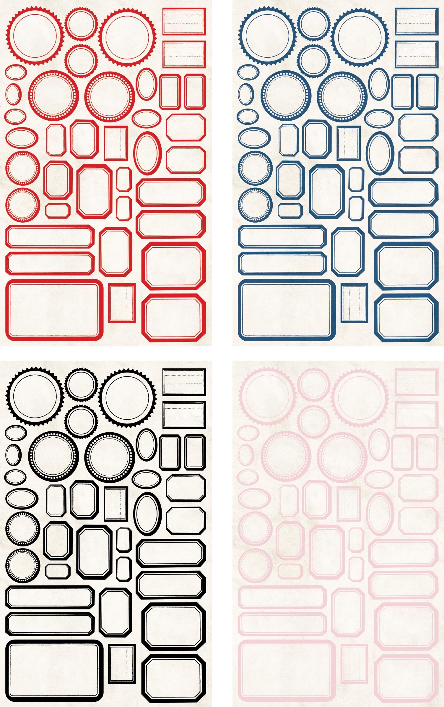 TH- Classic Label Stickers