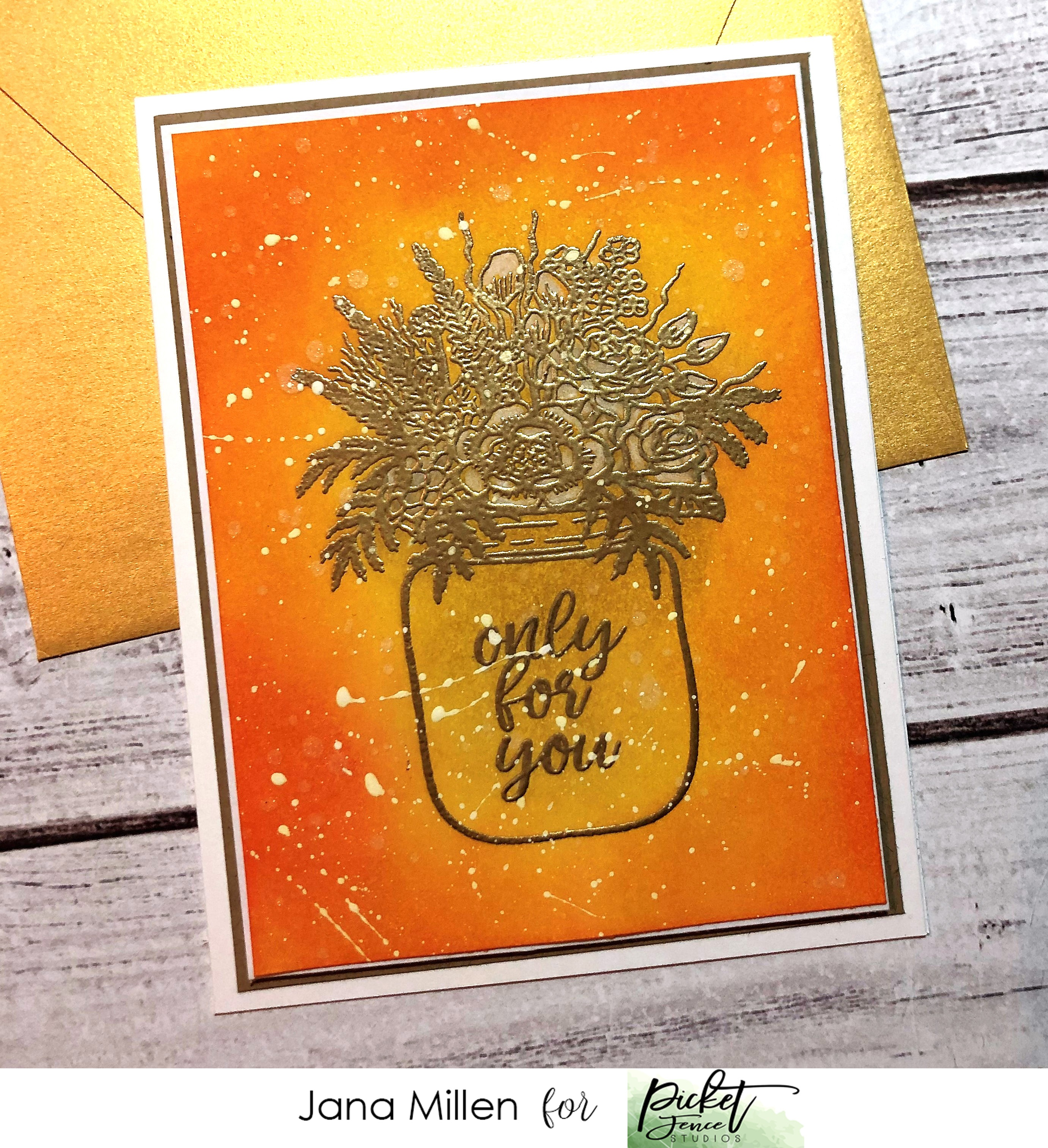 Picket Fence Studios 4X4 Stamp Set-Forgot To Say Thank You