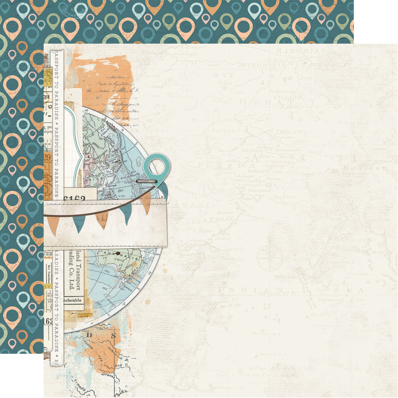 Simple Vintage Traveler Double-Sided Cardstock 12X12-Explore & Discover
