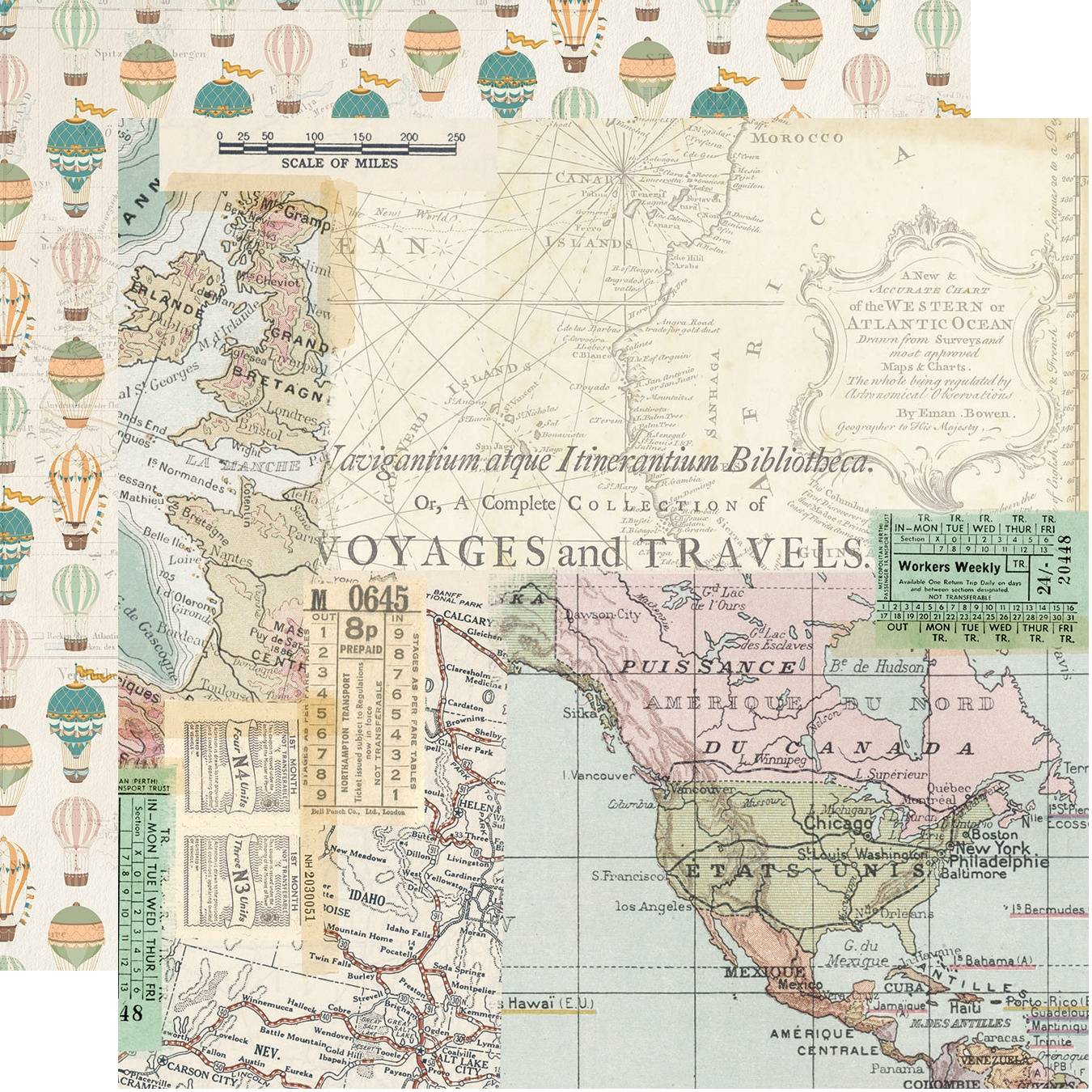 Simple Vintage Traveler Double-Sided Cardstock 12X12-Enjoy The View
