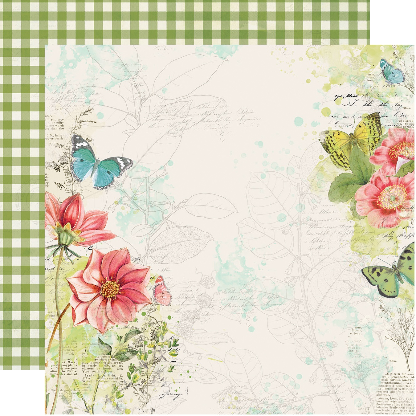 Simple Vintage Botanicals Double-Sided Cardstock 12X12-Embrace Life